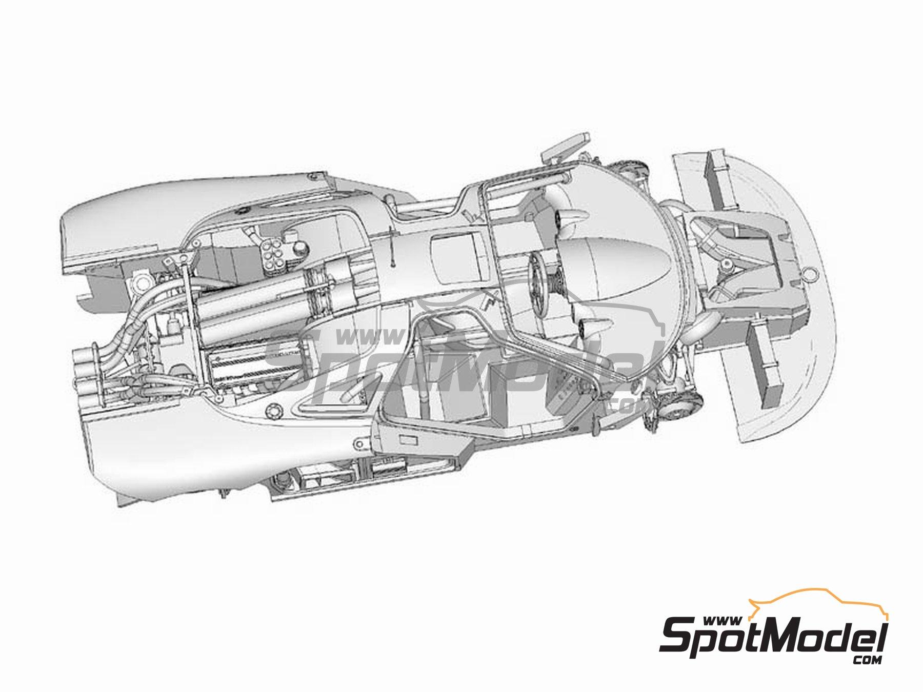 Image 4: McLaren F1 GTR Gulf - 24 Horas de Le Mans 1996 | Maqueta de coche en escala1/24 fabricado por Model Factory Hiro (ref.MFH-K361, tambien K-361)