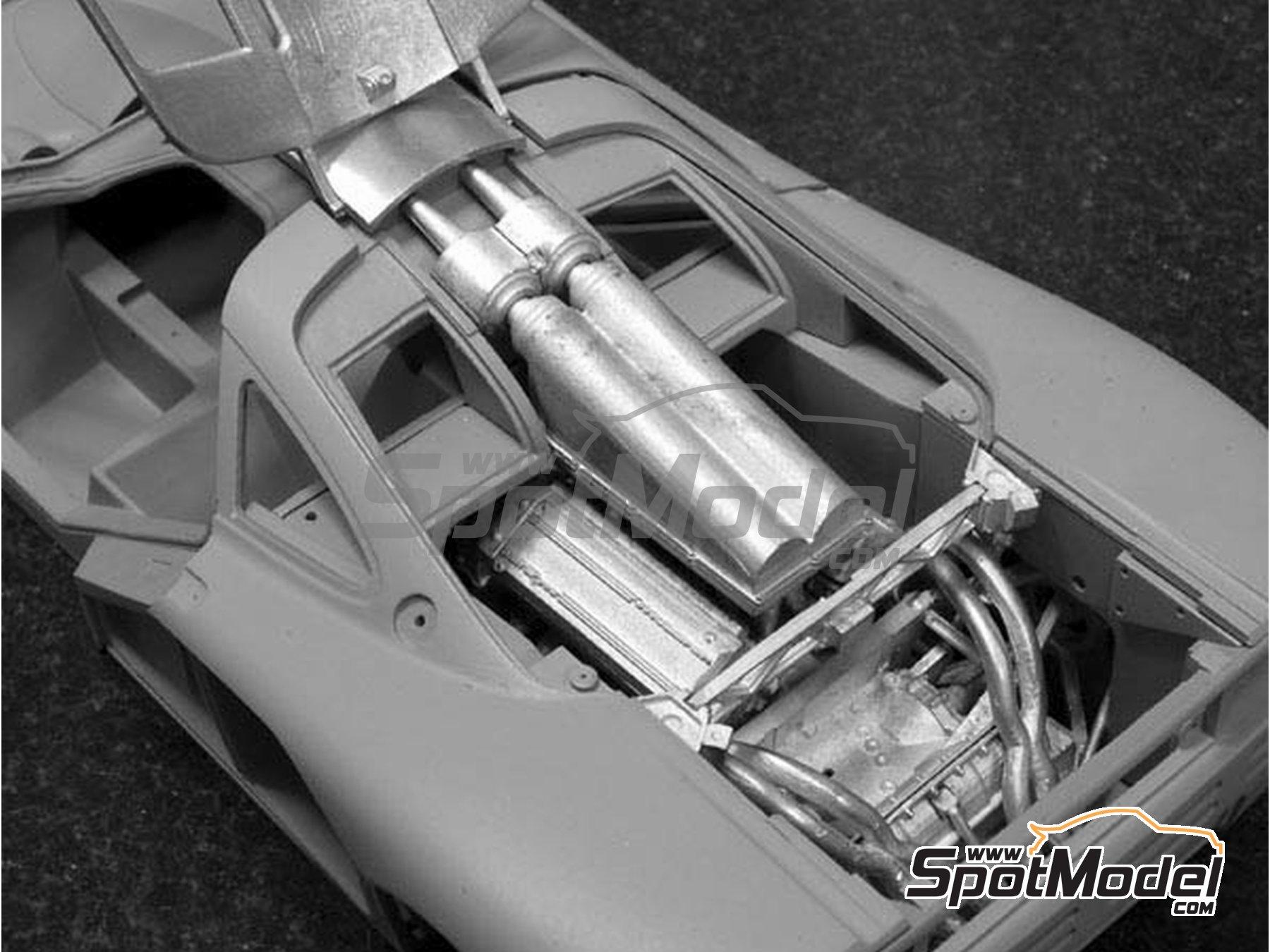 Image 6: McLaren F1 GTR Gulf - 24 Horas de Le Mans 1996 | Maqueta de coche en escala1/24 fabricado por Model Factory Hiro (ref.MFH-K361, tambien K-361)