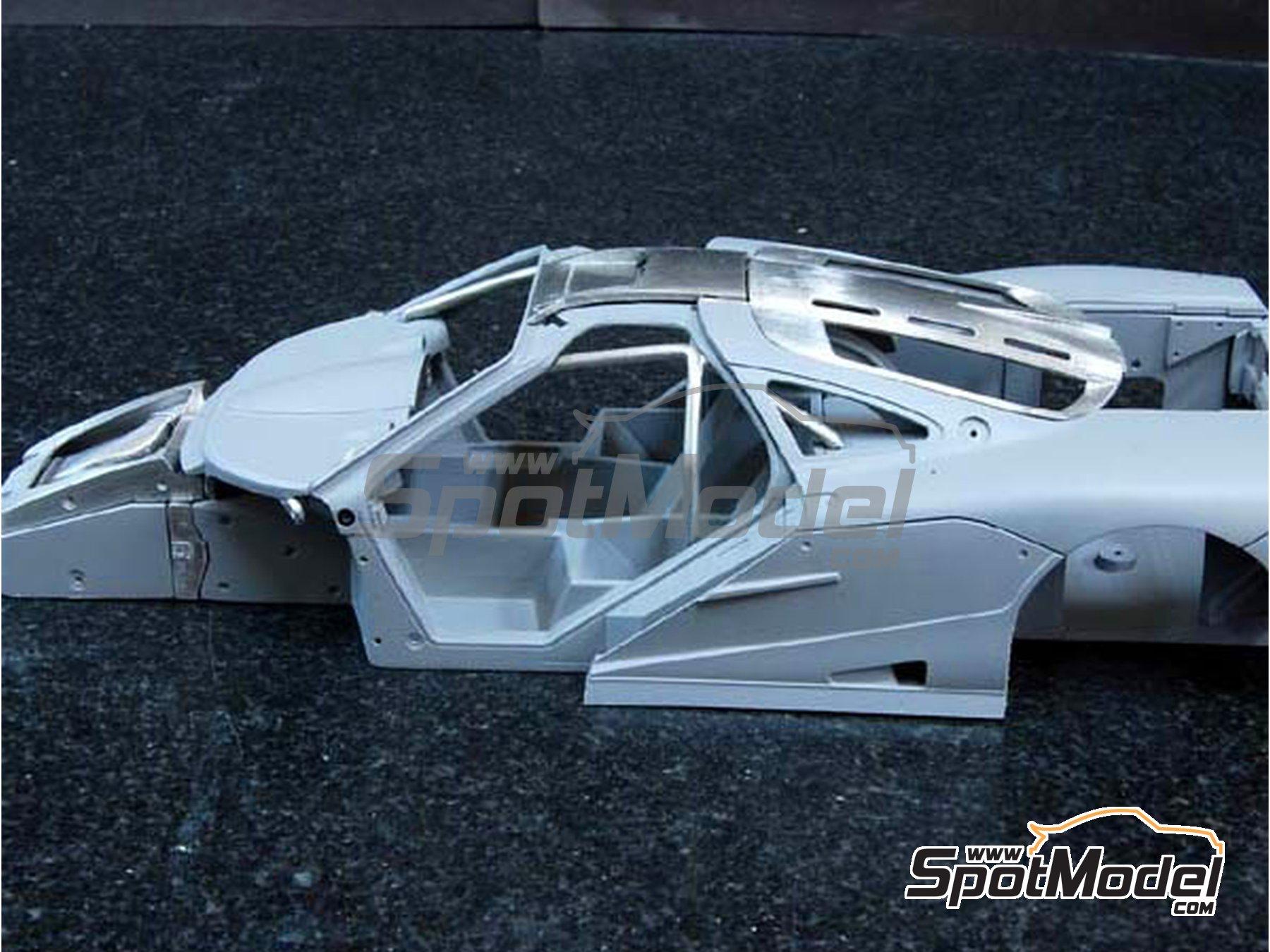 Image 8: McLaren F1 GTR Gulf - 24 Horas de Le Mans 1996 | Maqueta de coche en escala1/24 fabricado por Model Factory Hiro (ref.MFH-K361, tambien K-361)
