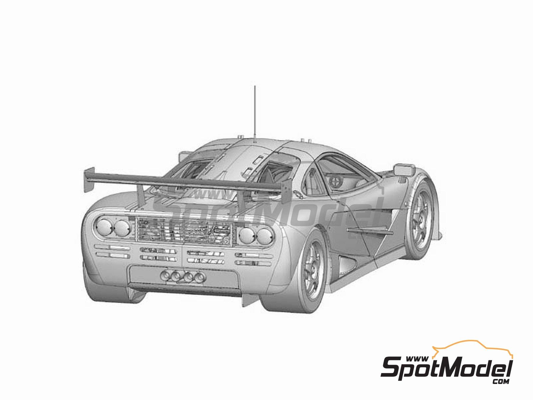 Image 2: McLaren F1 GTR Team Bigazzi Srl - 24 Horas de Le Mans 1996 | Maqueta de coche en escala1/24 fabricado por Model Factory Hiro (ref.MFH-K362, tambien K-362)