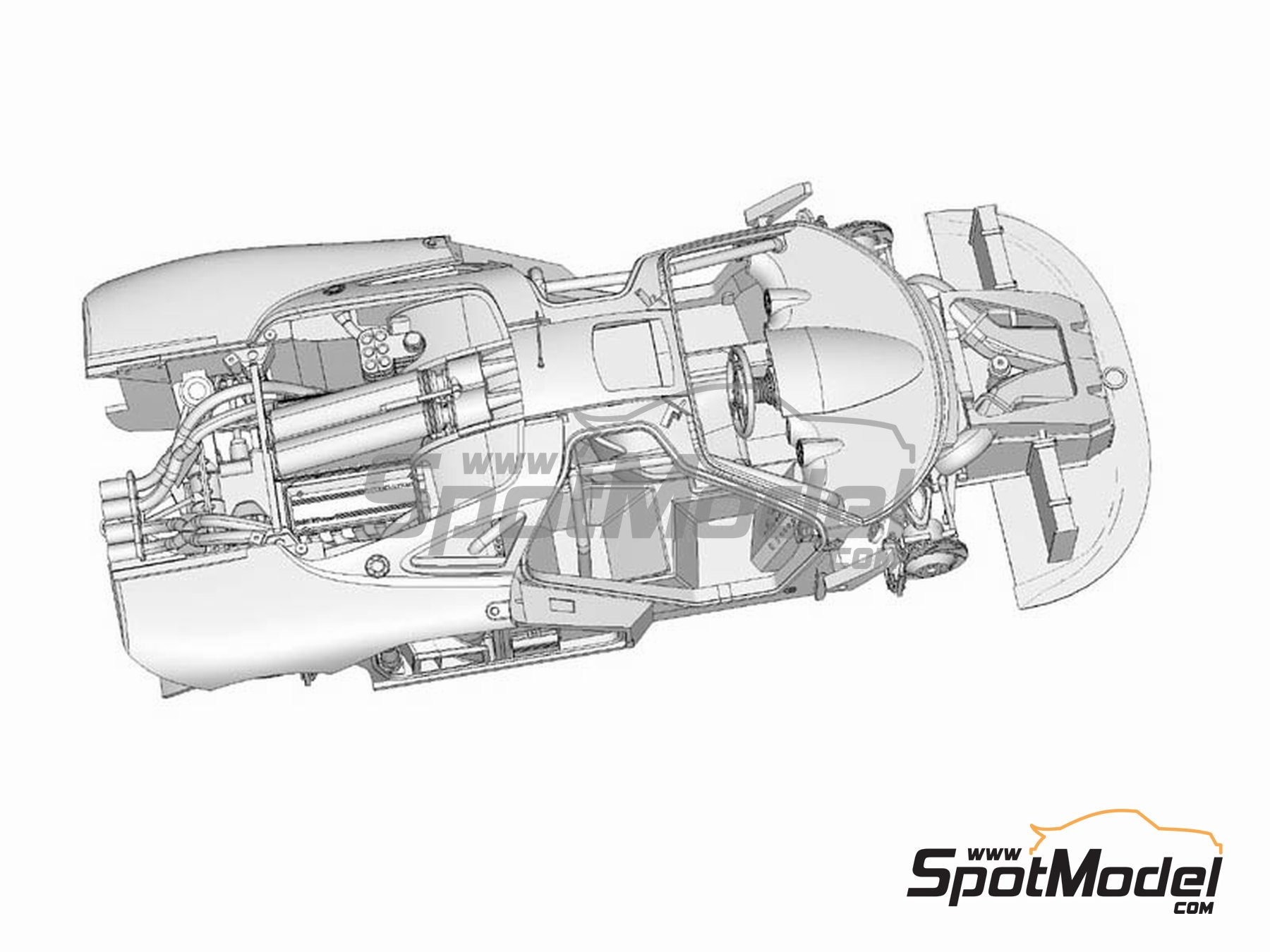 Image 4: McLaren F1 GTR Team Bigazzi Srl - 24 Horas de Le Mans 1996 | Maqueta de coche en escala1/24 fabricado por Model Factory Hiro (ref.MFH-K362, tambien K-362)