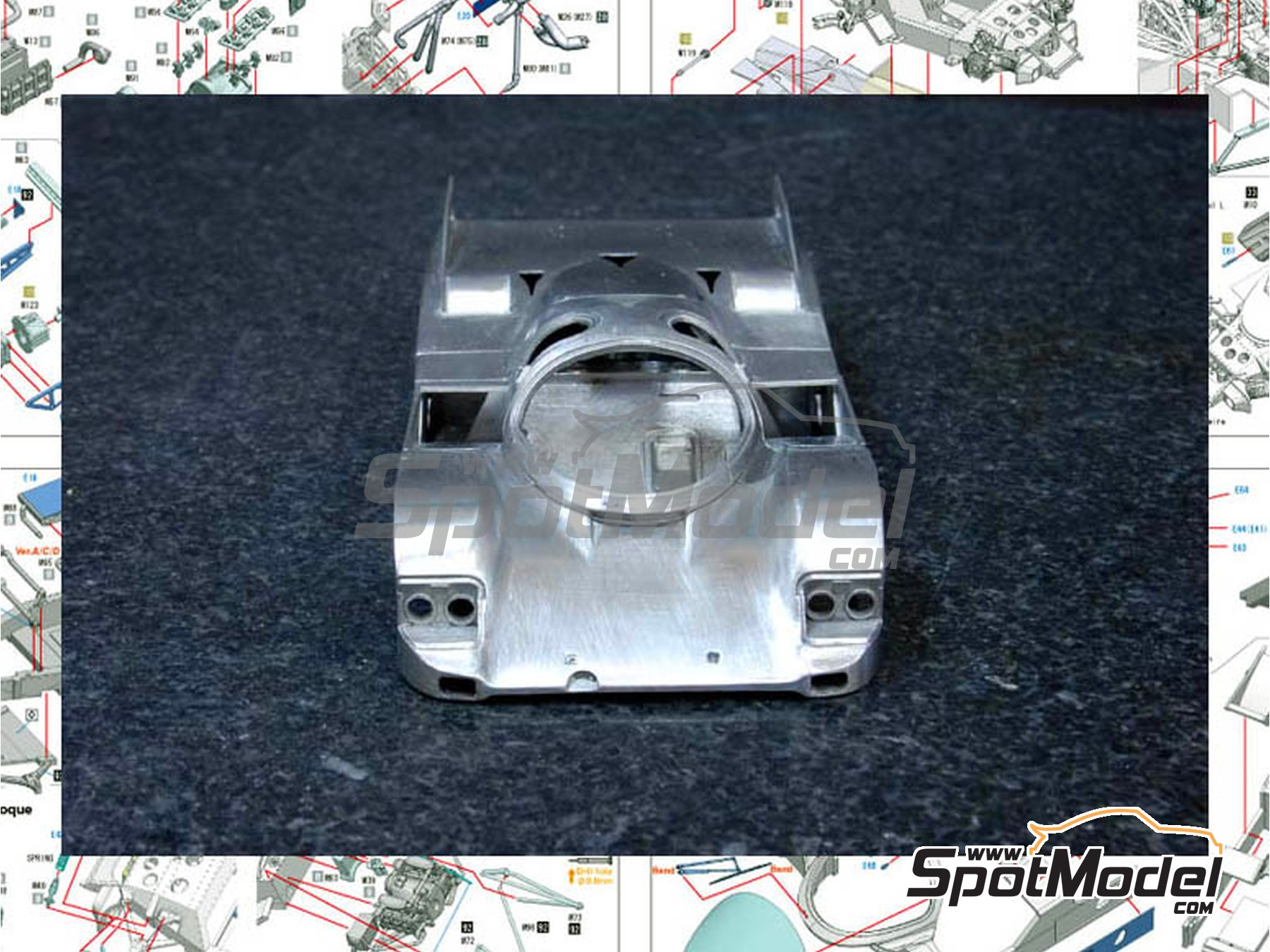 Image 5: Porsche 962C - 24 Hours Le Mans 1988 | Model car kit in 1/43 scale manufactured by Model Factory Hiro (ref. MFH-K366)
