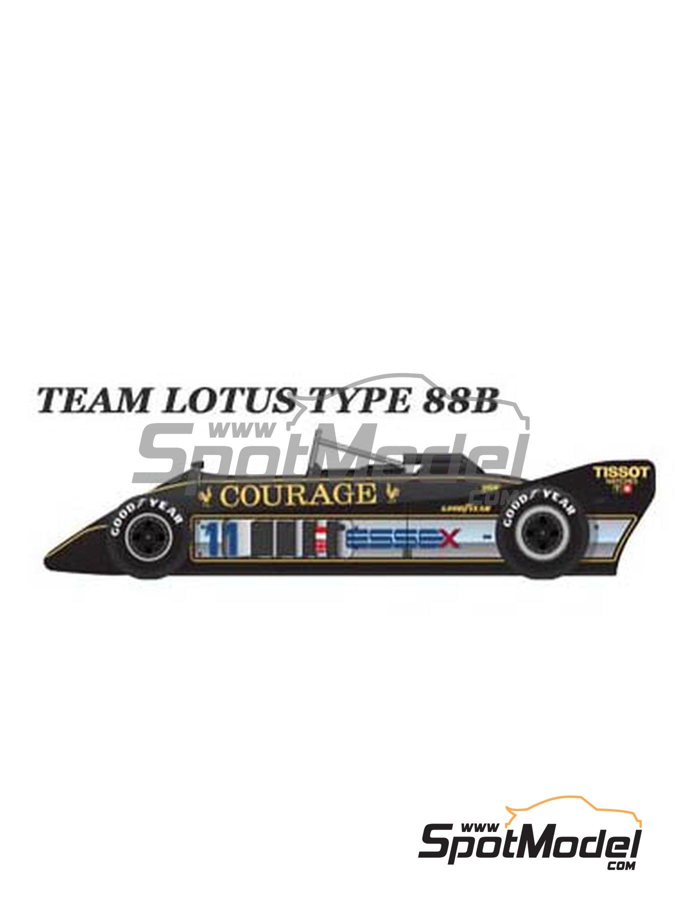 Lotus Type 88B Essex - Gran Premio de Fórmula 1 de Inglaterra 1981   Maqueta de coche en escala1/43 fabricado por Model Factory Hiro (ref.MFH-K368, tambien K-368) image