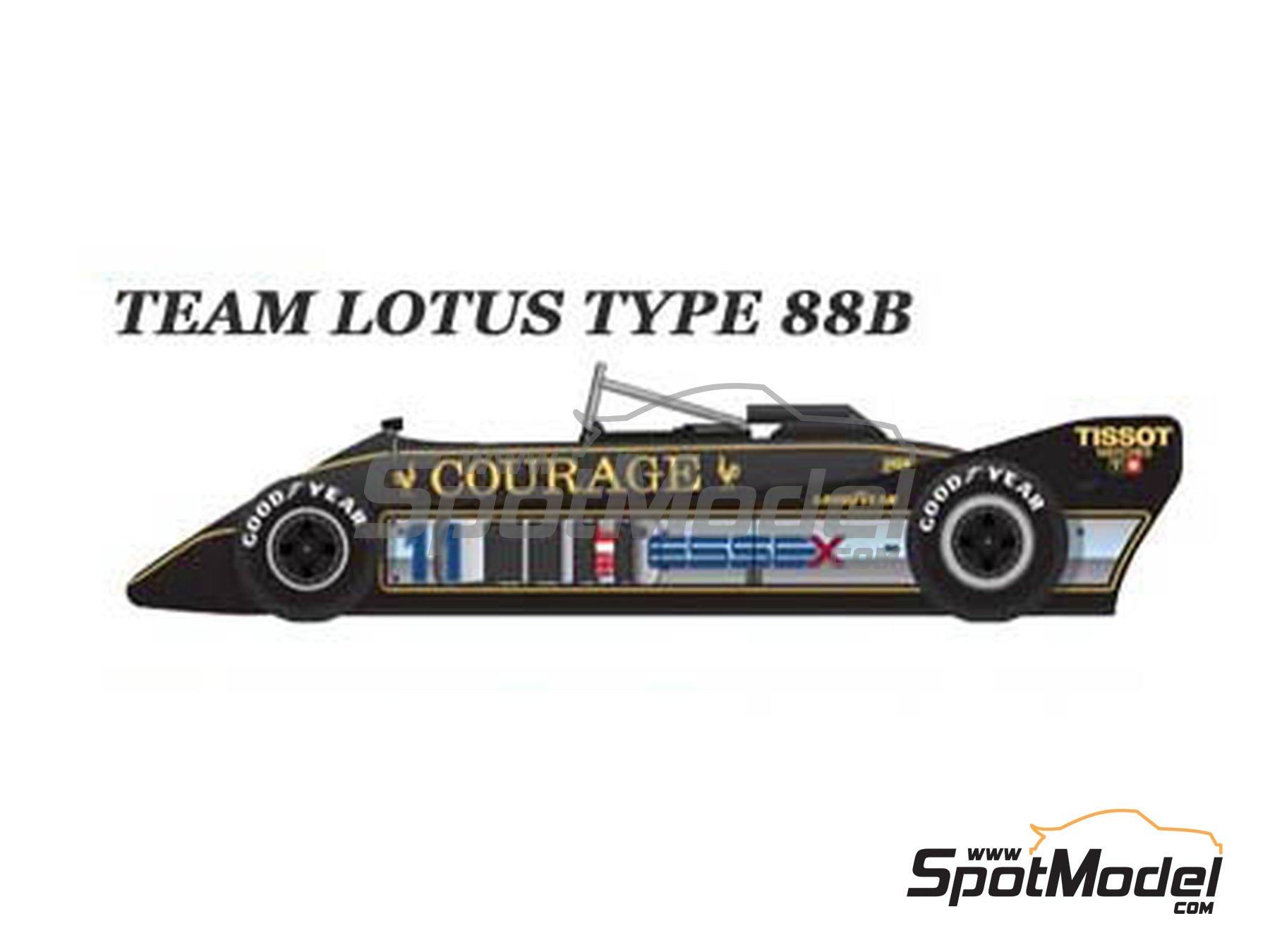 Image 1: Lotus Type 88B Essex - Gran Premio de Fórmula 1 de Inglaterra 1981   Maqueta de coche en escala1/43 fabricado por Model Factory Hiro (ref.MFH-K368, tambien K-368)