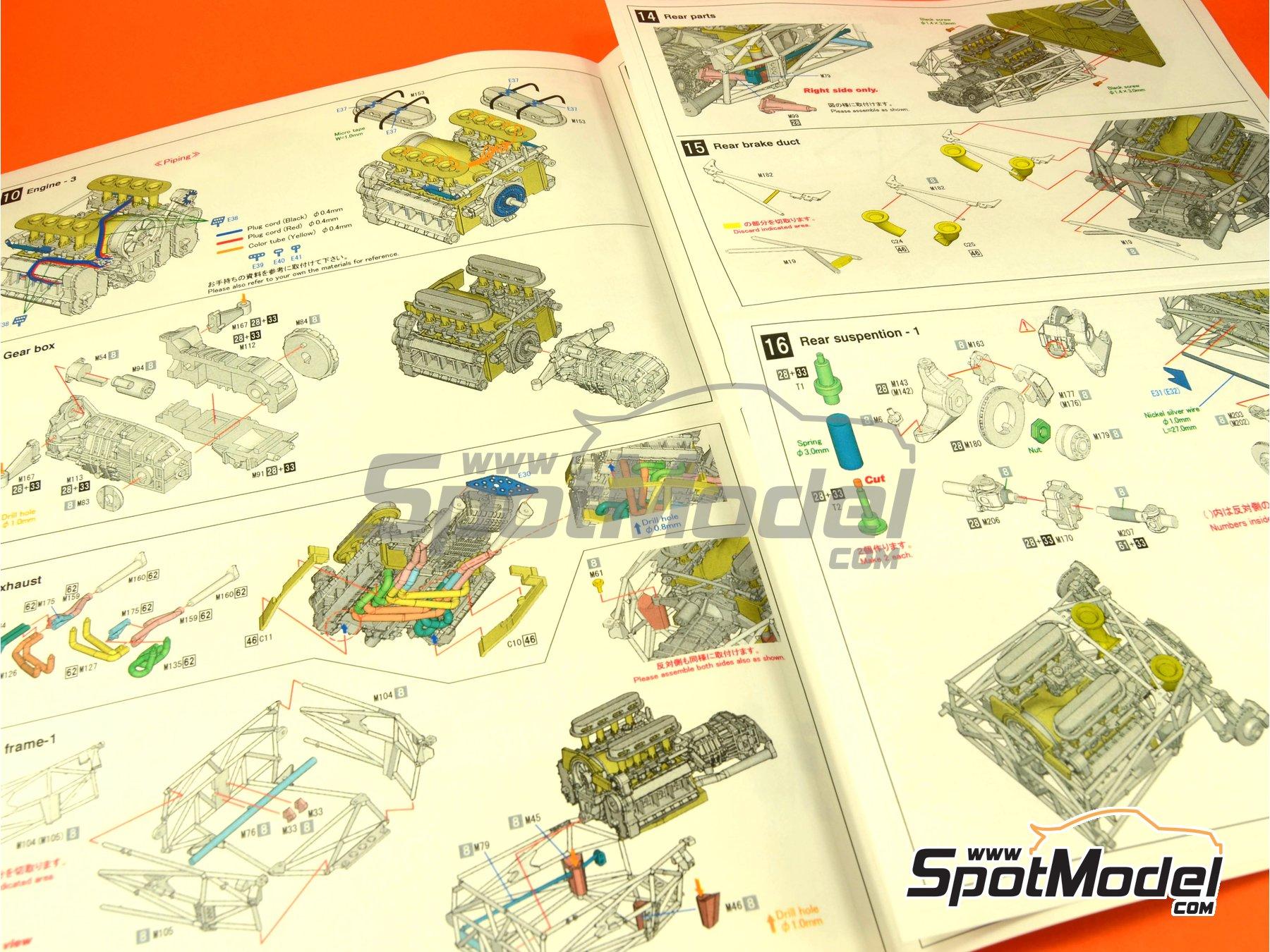 Image 5: Porsche 908/03 Martini Racing - Targa Florio 1971   Maqueta de coche en escala1/24 fabricado por Model Factory Hiro (ref.MFH-K370, tambien K-370)