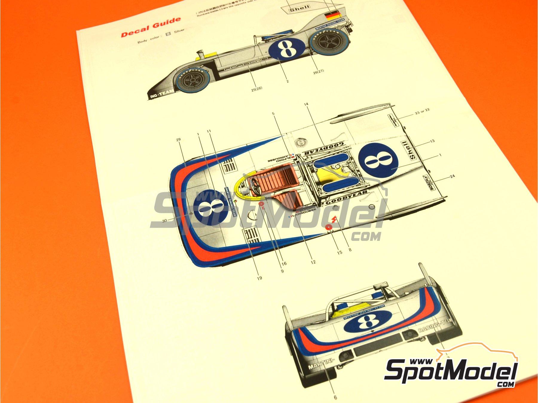 Image 6: Porsche 908/03 Martini Racing - Targa Florio 1971   Maqueta de coche en escala1/24 fabricado por Model Factory Hiro (ref.MFH-K370, tambien K-370)