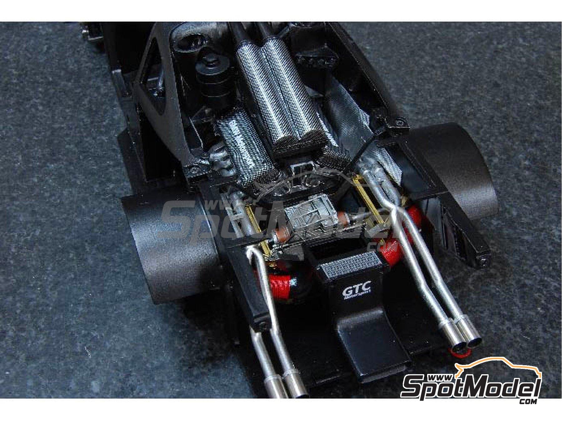 Image 2: McLaren F1 GTR  Long Tail Gulf Davidoff - 24 Horas de Le Mans 1997   Maqueta de coche en escala1/24 fabricado por Model Factory Hiro (ref.MFH-K376, tambien K-376)