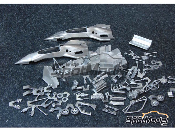 Image 6: Brabham BT52B Parmalat - European Formula 1 Grand Prix, Italian Formula 1 Grand Prix 1983 | Model car kit in 1/43 scale manufactured by Model Factory Hiro (ref.MFH-K386, also K-386)