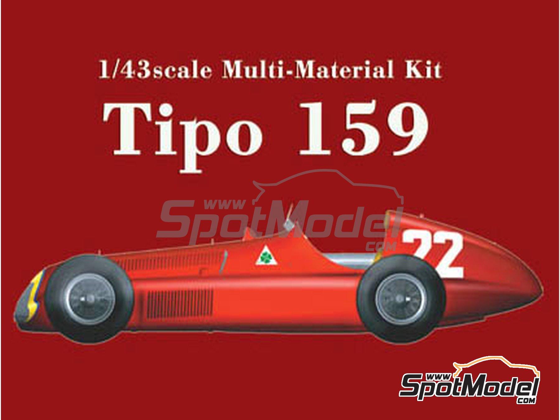 Image 1: Alfa Romeo Tipo 159 - Spanish Formula 1 Grand Prix 1951 | Model car kit in 1/43 scale manufactured by Model Factory Hiro (ref.MFH-K387, also K-387)