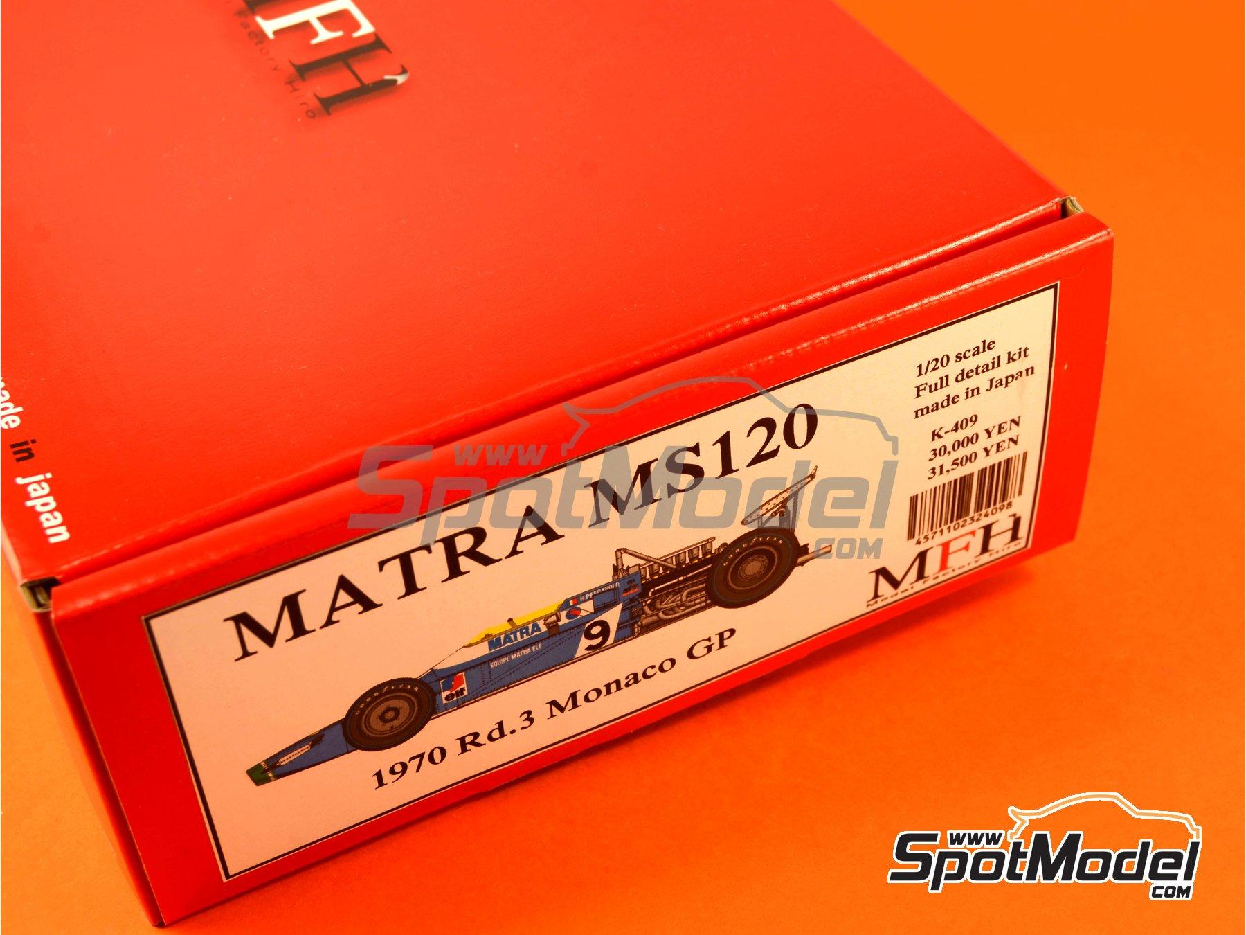 Image 1: Matra MS120 ELF - Monaco Formula 1 Grand Prix 1970 | Model car kit in 1/20 scale manufactured by Model Factory Hiro (ref.MFH-K409, also K-409)