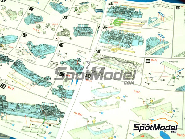 Image 9: Matra MS11 ELF - Monaco Formula 1 Grand Prix 1968   Model car kit in 1/43 scale manufactured by Model Factory Hiro (ref.MFH-K411, also K-411)