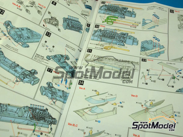 Image 10: Matra MS11 ELF - French Grand Prix 1968 | Model car kit in 1/43 scale manufactured by Model Factory Hiro (ref. MFH-K413)