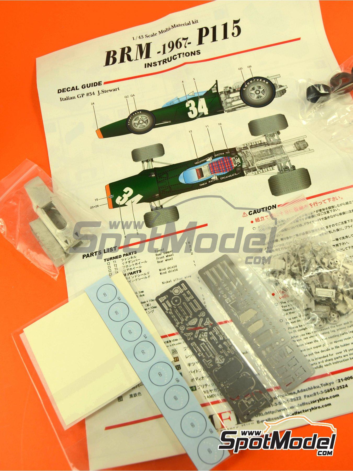 BRM H-16 - Gran Premio de Fórmula 1 de Italia 1967 | Maqueta de coche en escala1/43 fabricado por Model Factory Hiro (ref.MFH-K417, tambien K-417) image