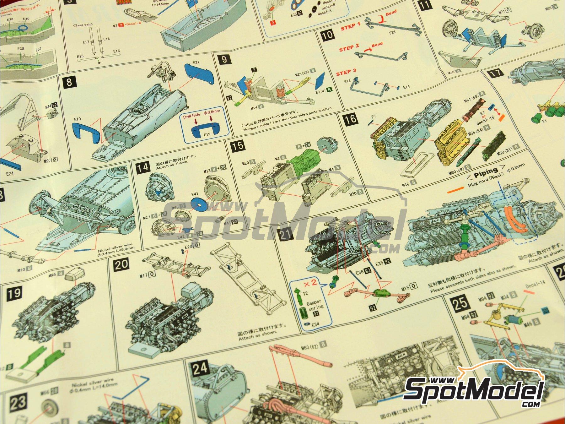 Image 3: BRM H-16 - Gran Premio de Fórmula 1 de Italia 1967 | Maqueta de coche en escala1/43 fabricado por Model Factory Hiro (ref.MFH-K417, tambien K-417)