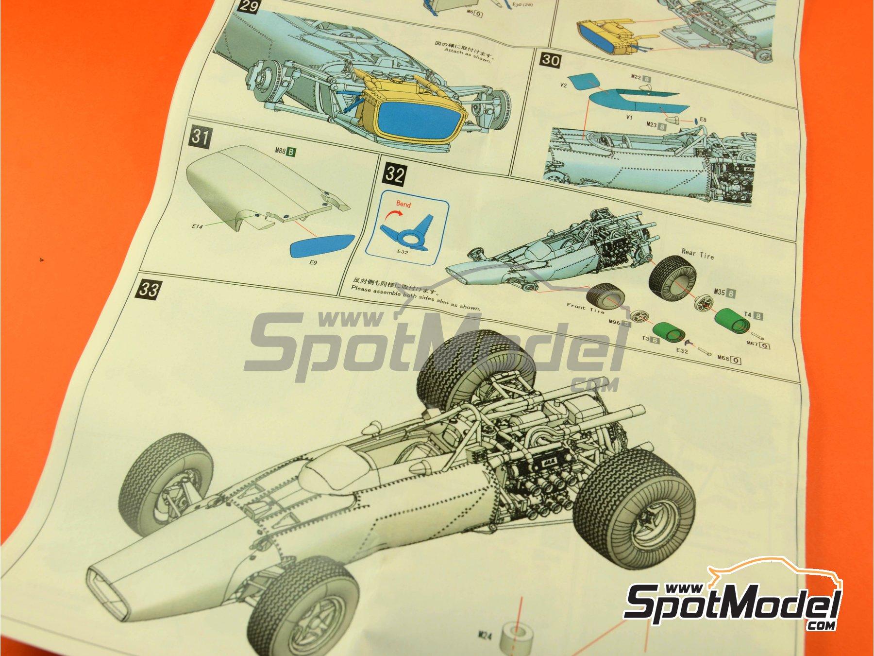 Image 4: BRM H-16 - Gran Premio de Fórmula 1 de Italia 1967 | Maqueta de coche en escala1/43 fabricado por Model Factory Hiro (ref.MFH-K417, tambien K-417)