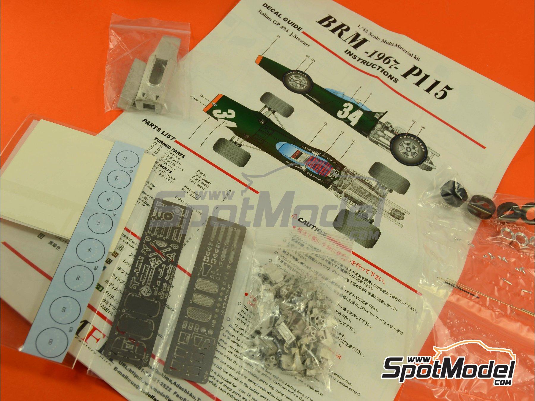Image 12: BRM H-16 - Gran Premio de Fórmula 1 de Italia 1967 | Maqueta de coche en escala1/43 fabricado por Model Factory Hiro (ref.MFH-K417, tambien K-417)