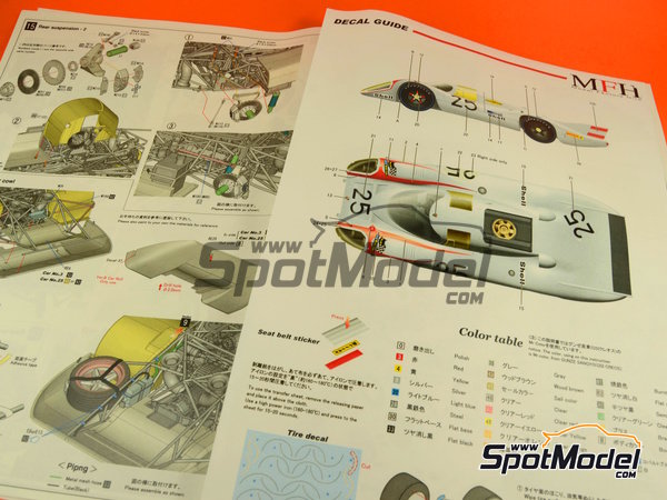 Image 6: Porsche 917LH Shell - 24 Hours Le Mans 1970 | Model car kit in 1/12 scale manufactured by Model Factory Hiro (ref. MFH-K437)
