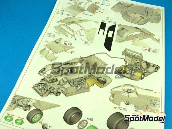 Image 4: Porsche 917LH Psychedelic Martini Racing - 24 Horas de Le Mans 1970 | Maqueta de coche en escala1/12 fabricado por Model Factory Hiro (ref.MFH-K438, tambien K-438)