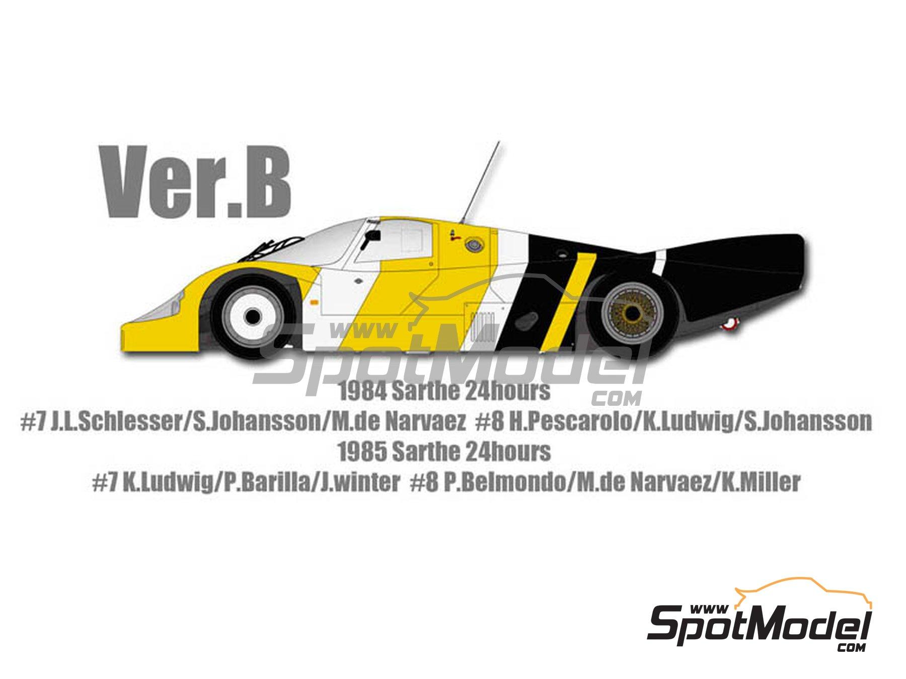 Image 2: Porsche 956 New Man Joest Racing - 24 Horas de Le Mans 1984 y 1985 | Maqueta de coche en escala1/12 fabricado por Model Factory Hiro (ref.MFH-K460, tambien K-460)