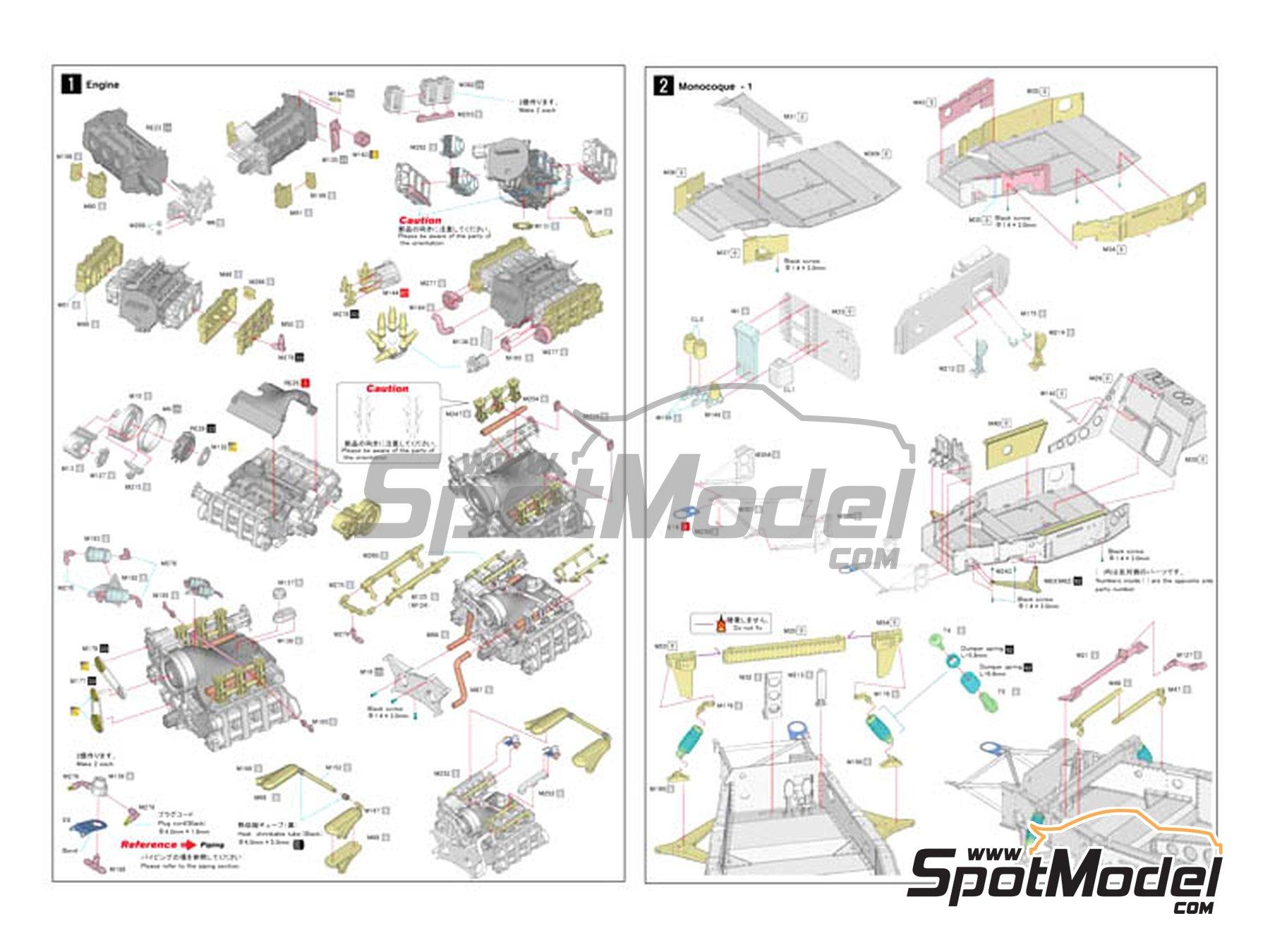 Image 3: Porsche 956 New Man Joest Racing - 24 Horas de Le Mans 1984 y 1985 | Maqueta de coche en escala1/12 fabricado por Model Factory Hiro (ref.MFH-K460, tambien K-460)