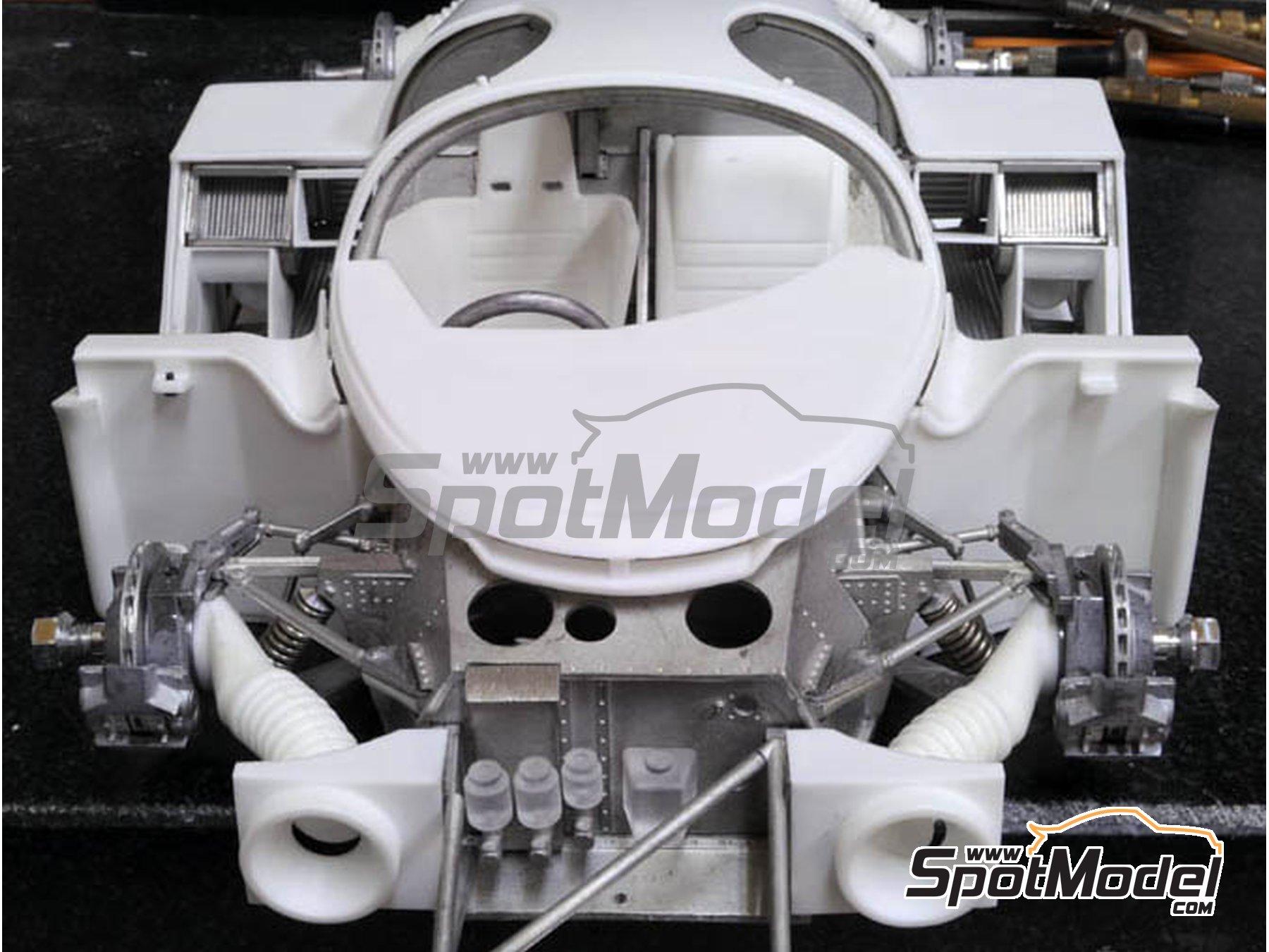 Image 8: Porsche 956 New Man Joest Racing - 24 Horas de Le Mans 1984 y 1985 | Maqueta de coche en escala1/12 fabricado por Model Factory Hiro (ref.MFH-K460, tambien K-460)