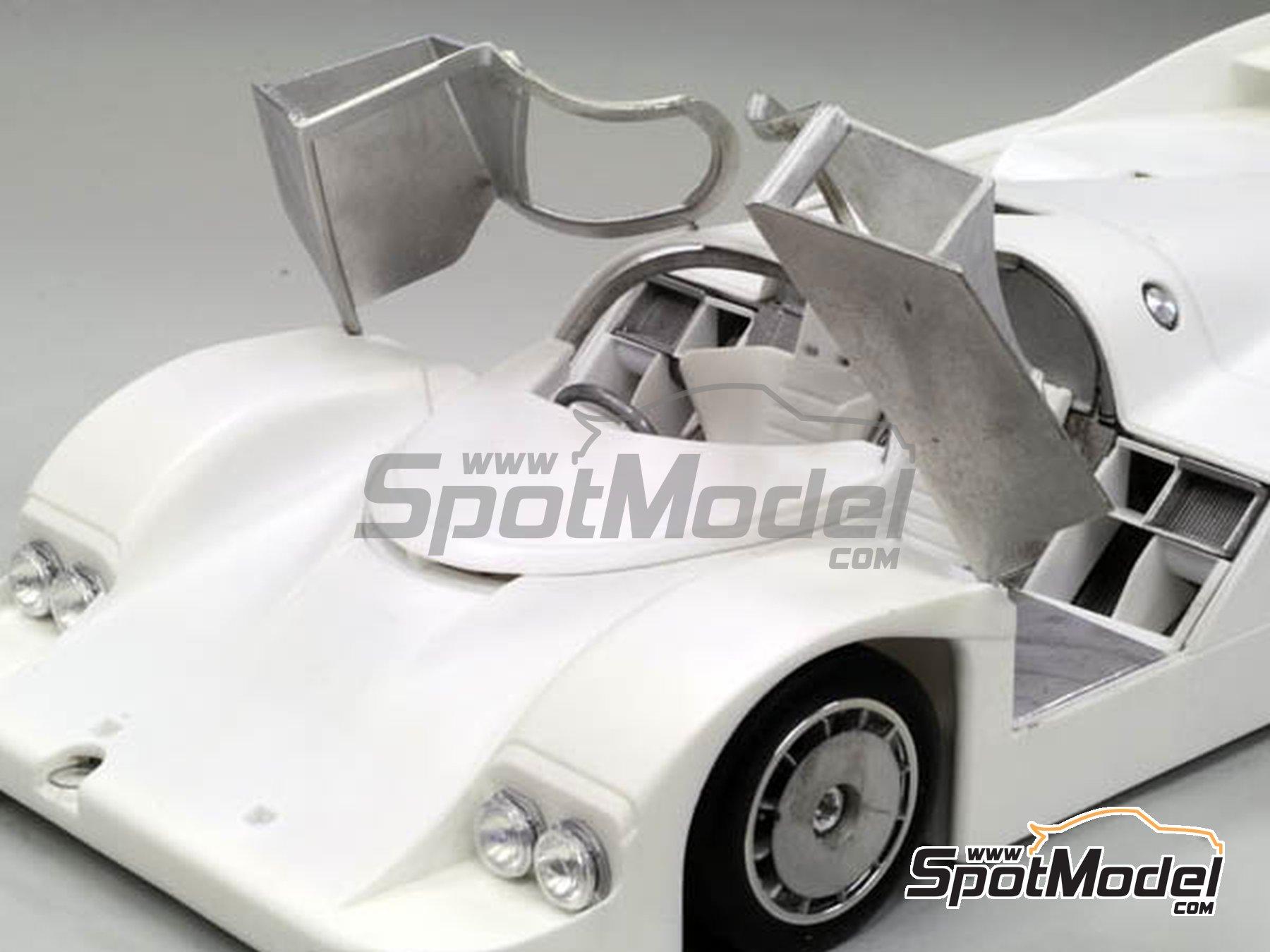 Image 9: Porsche 956 New Man Joest Racing - 24 Horas de Le Mans 1984 y 1985 | Maqueta de coche en escala1/12 fabricado por Model Factory Hiro (ref.MFH-K460, tambien K-460)