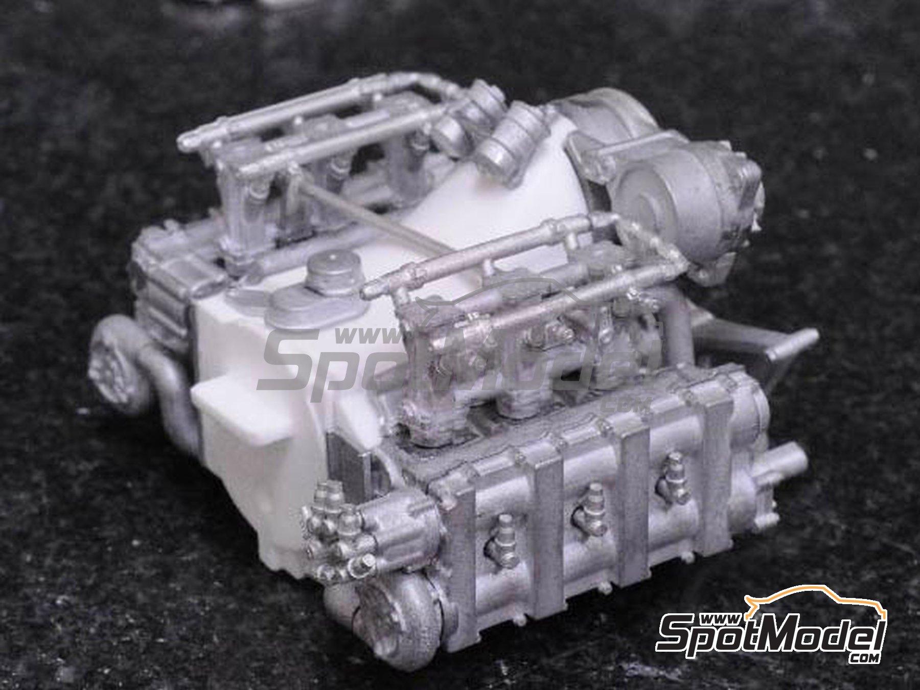 Image 11: Porsche 956 New Man Joest Racing - 24 Horas de Le Mans 1984 y 1985 | Maqueta de coche en escala1/12 fabricado por Model Factory Hiro (ref.MFH-K460, tambien K-460)