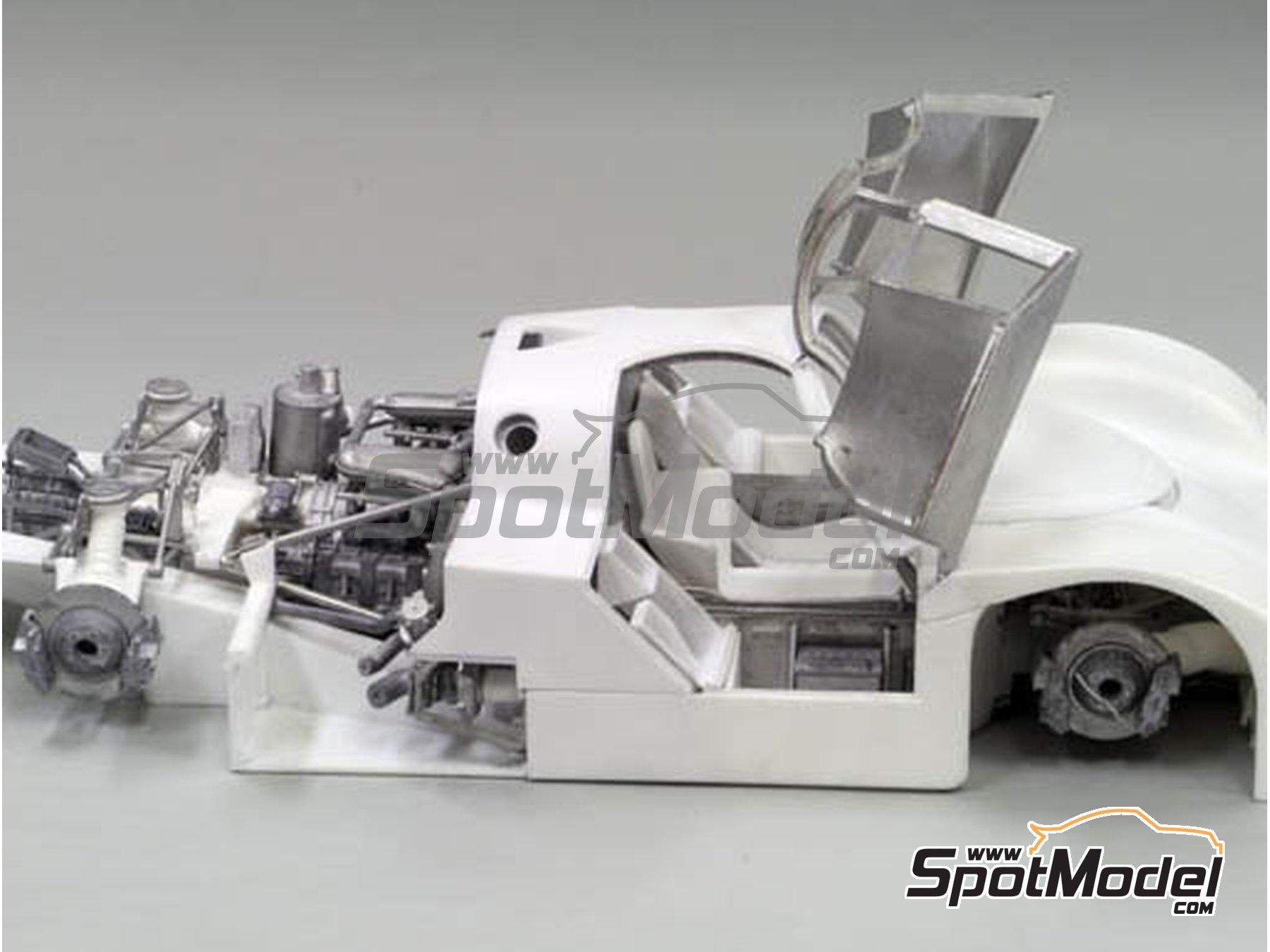 Image 15: Porsche 956 New Man Joest Racing - 24 Horas de Le Mans 1984 y 1985 | Maqueta de coche en escala1/12 fabricado por Model Factory Hiro (ref.MFH-K460, tambien K-460)