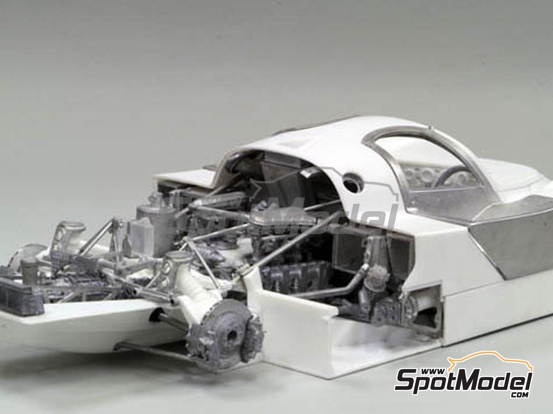 Image 16: Porsche 956 New Man Joest Racing - 24 Horas de Le Mans 1984 y 1985 | Maqueta de coche en escala1/12 fabricado por Model Factory Hiro (ref.MFH-K460, tambien K-460)