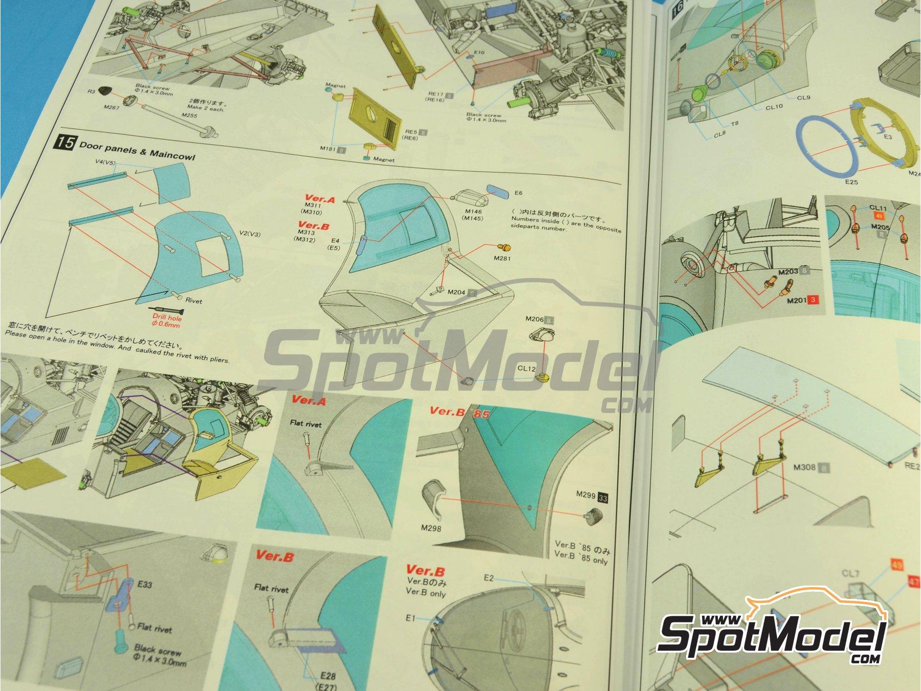 Image 20: Porsche 956 New Man Joest Racing - 24 Horas de Le Mans 1984 y 1985 | Maqueta de coche en escala1/12 fabricado por Model Factory Hiro (ref.MFH-K460, tambien K-460)