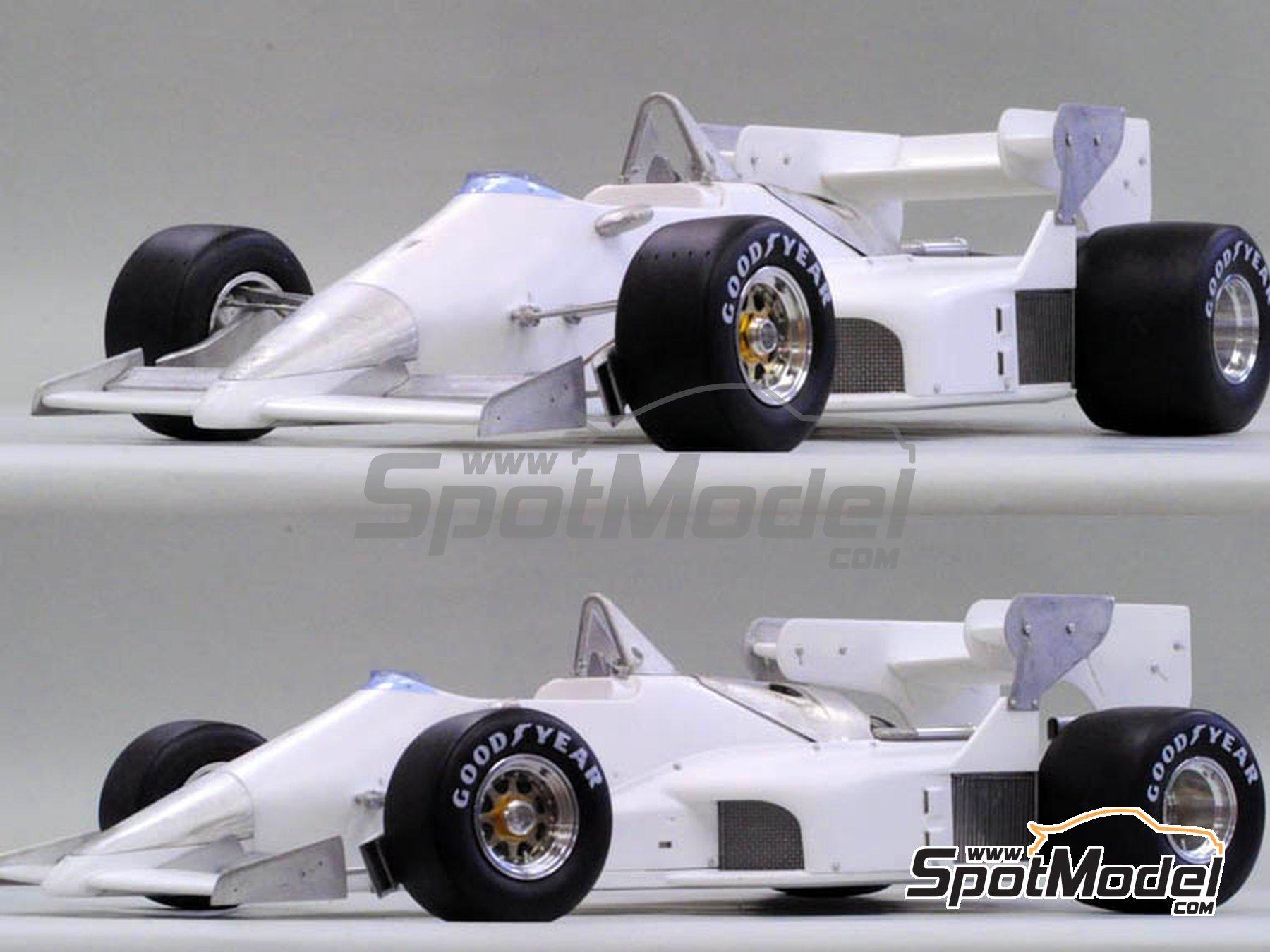 Image 1: Ferrari 126C4 Fiat Agip - Belgian Formula 1 Grand Prix, San Marino Formula 1 Grand Prix 1984   Model car kit in 1/12 scale manufactured by Model Factory Hiro (ref.MFH-K469, also K-469)