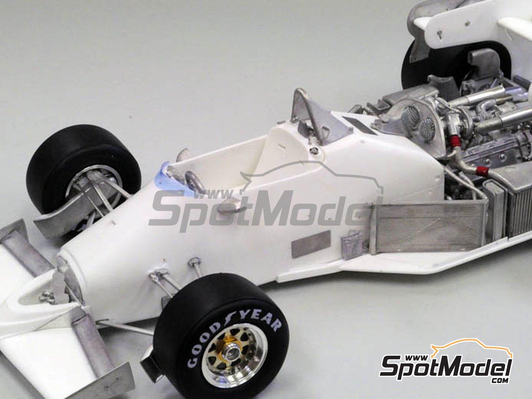 Image 3: Ferrari 126C4 Fiat Agip - Belgian Formula 1 Grand Prix, San Marino Formula 1 Grand Prix 1984   Model car kit in 1/12 scale manufactured by Model Factory Hiro (ref.MFH-K469, also K-469)
