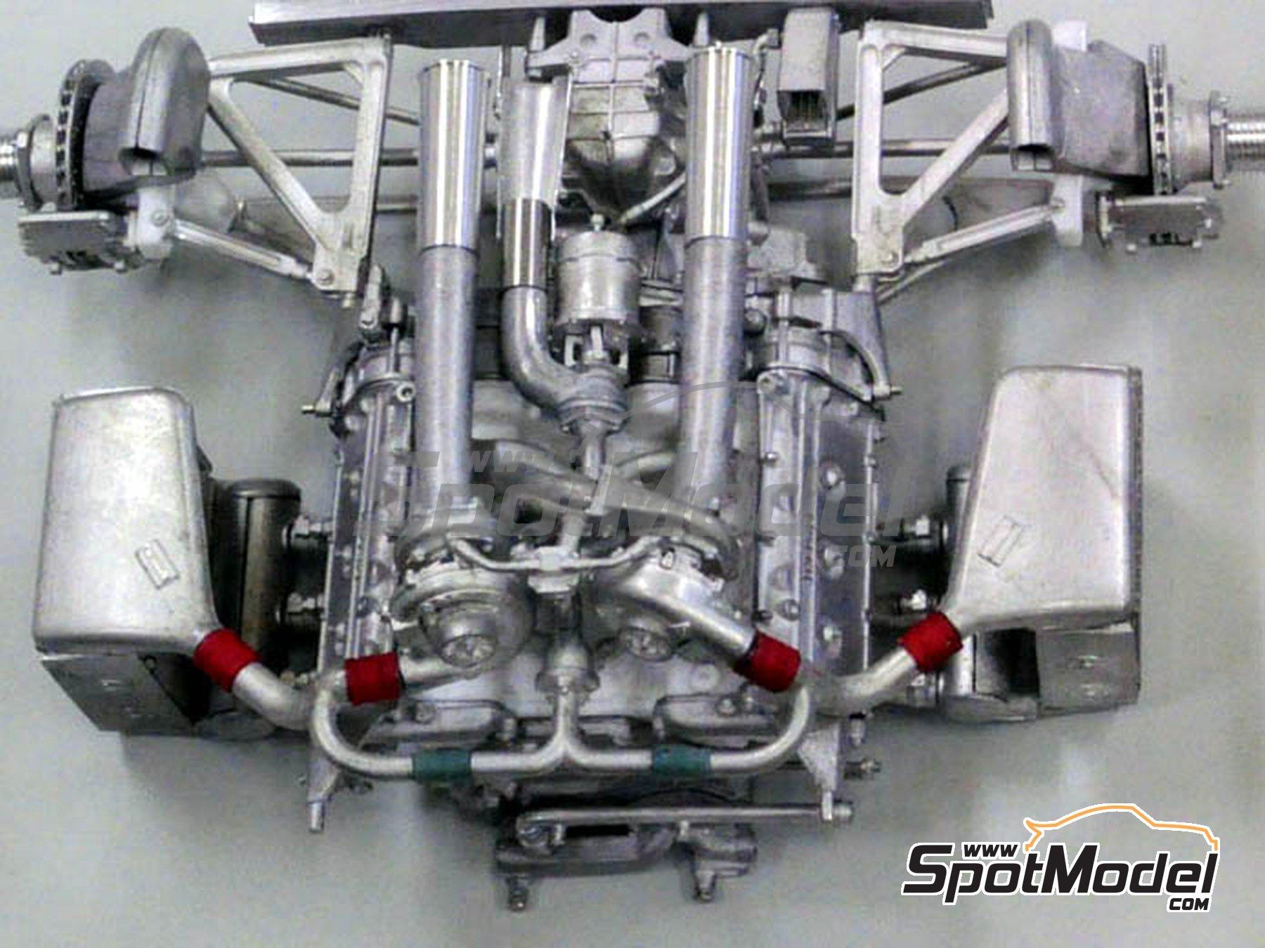 Image 7: Ferrari 126C4 Fiat Agip - Belgian Formula 1 Grand Prix, San Marino Formula 1 Grand Prix 1984   Model car kit in 1/12 scale manufactured by Model Factory Hiro (ref.MFH-K469, also K-469)