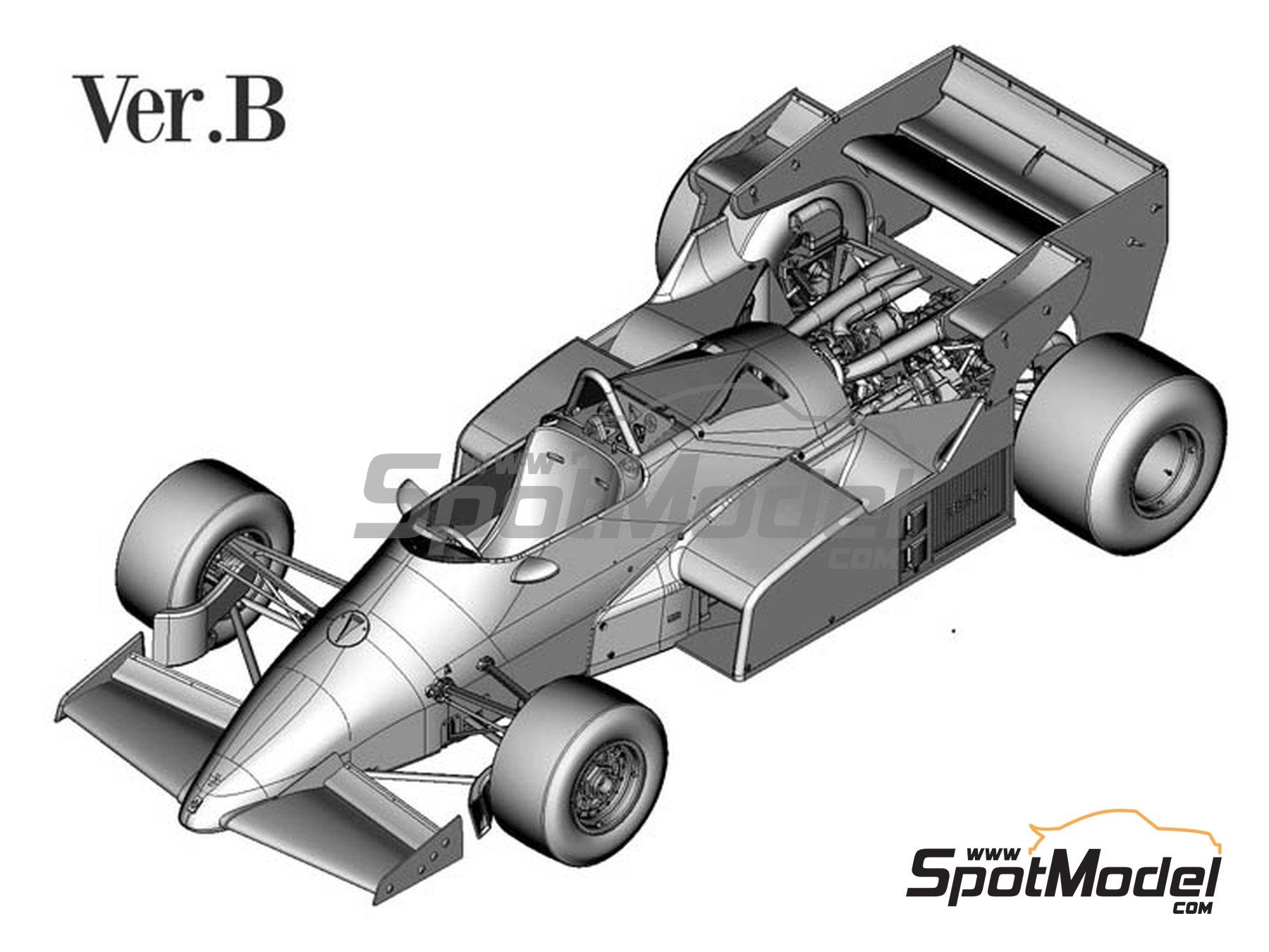 Image 1: Ferrari 126C4M Fiat Agip - Gran Premio de Fórmula 1 de Inglaterra 1984   Maqueta de coche en escala1/12 fabricado por Model Factory Hiro (ref.MFH-K470, tambien K-470)