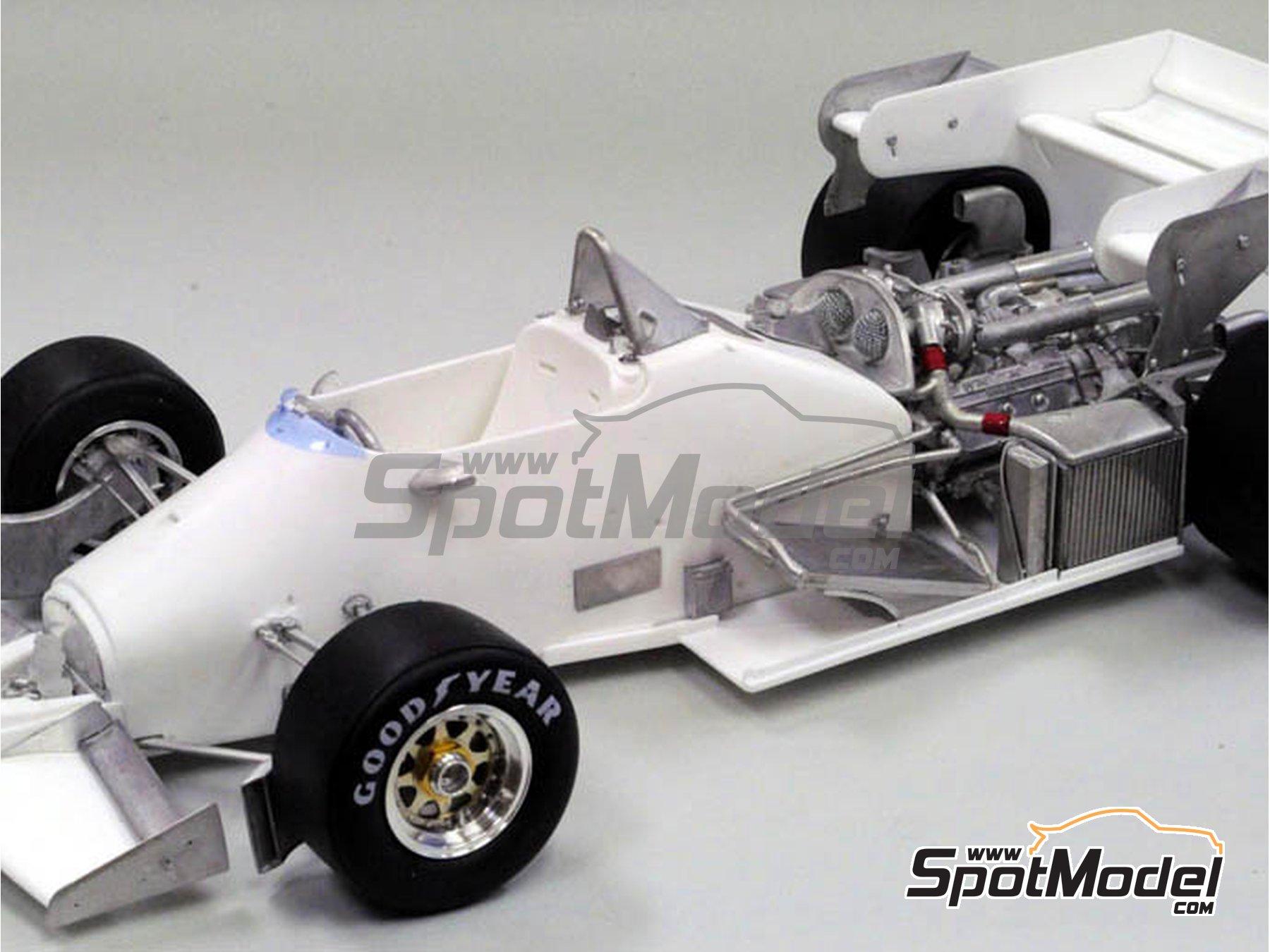 Image 3: Ferrari 126C4M Fiat Agip - Gran Premio de Fórmula 1 de Inglaterra 1984   Maqueta de coche en escala1/12 fabricado por Model Factory Hiro (ref.MFH-K470, tambien K-470)