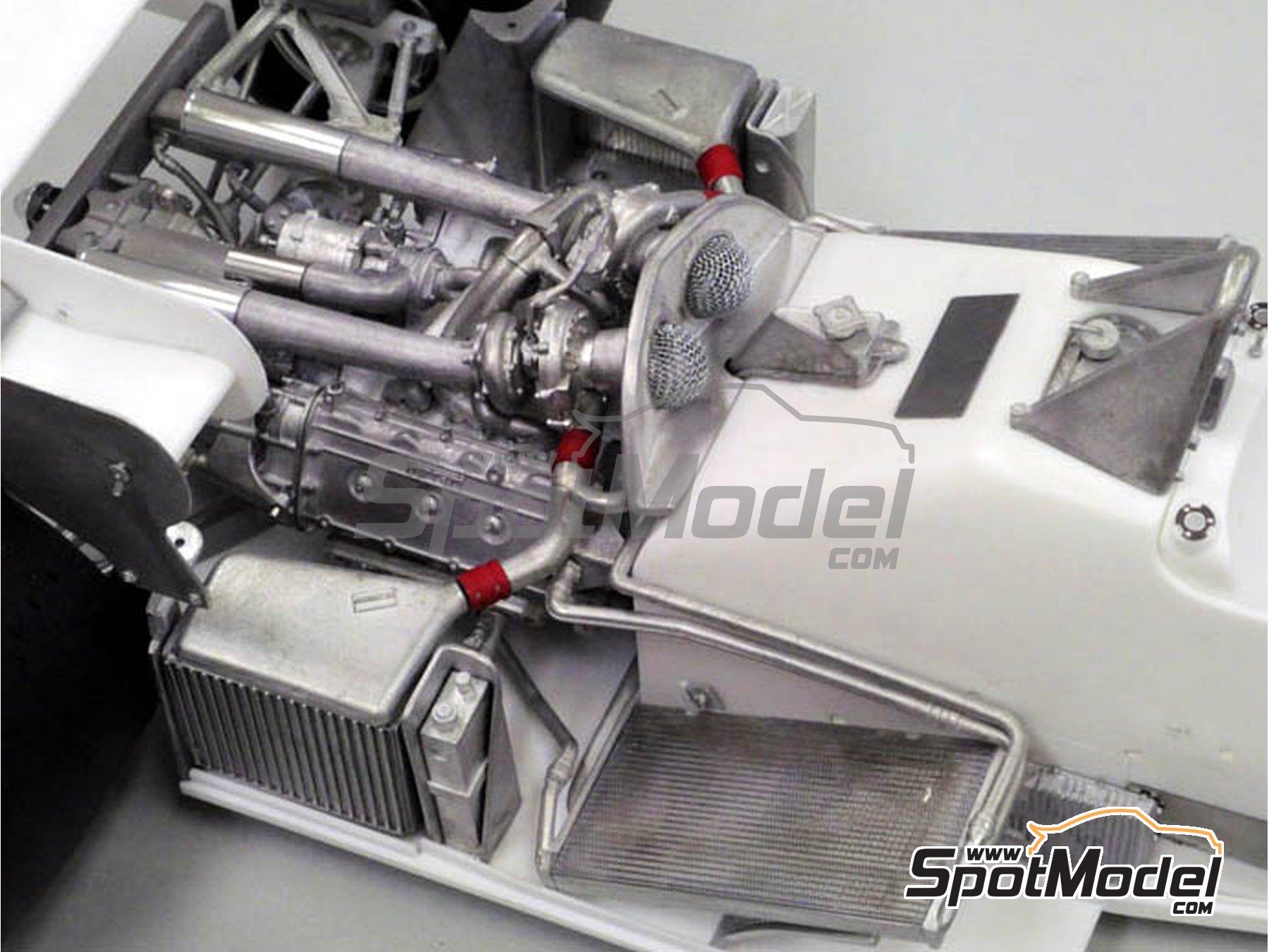 Image 4: Ferrari 126C4M Fiat Agip - Gran Premio de Fórmula 1 de Inglaterra 1984   Maqueta de coche en escala1/12 fabricado por Model Factory Hiro (ref.MFH-K470, tambien K-470)
