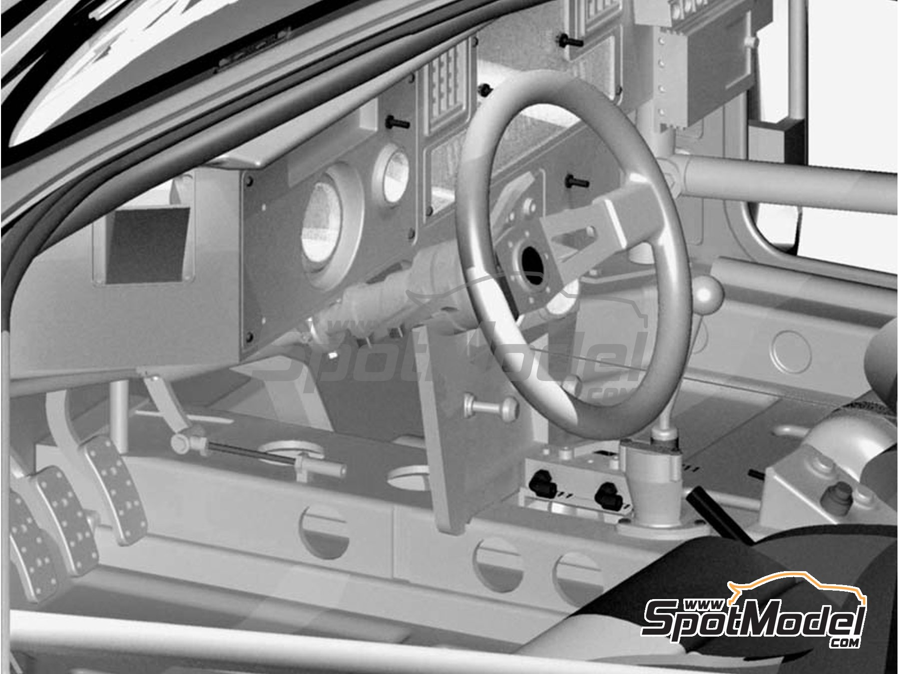 Image 15: Lancia 037 Rally Martini - Montecarlo Rally - Rallye Automobile de Monte-Carlo 1983 | Model car kit in 1/12 scale manufactured by Model Factory Hiro (ref.MFH-K489, also K-489)