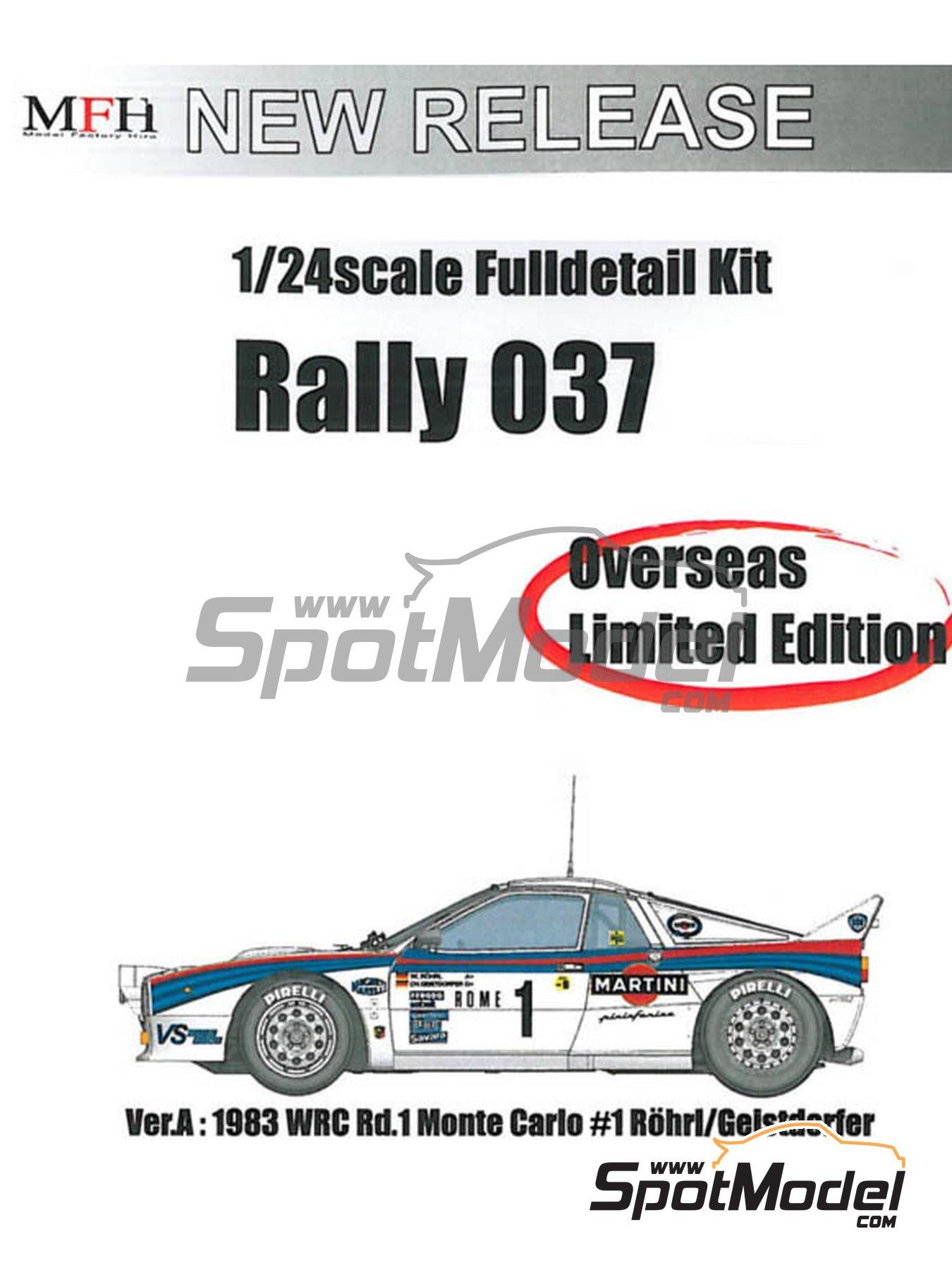 Lancia 037 Rally Martini - Rally de Montecarlo 1983 | Maqueta de coche en escala1/24 fabricado por Model Factory Hiro (ref.MFH-K504, tambien K-504) image