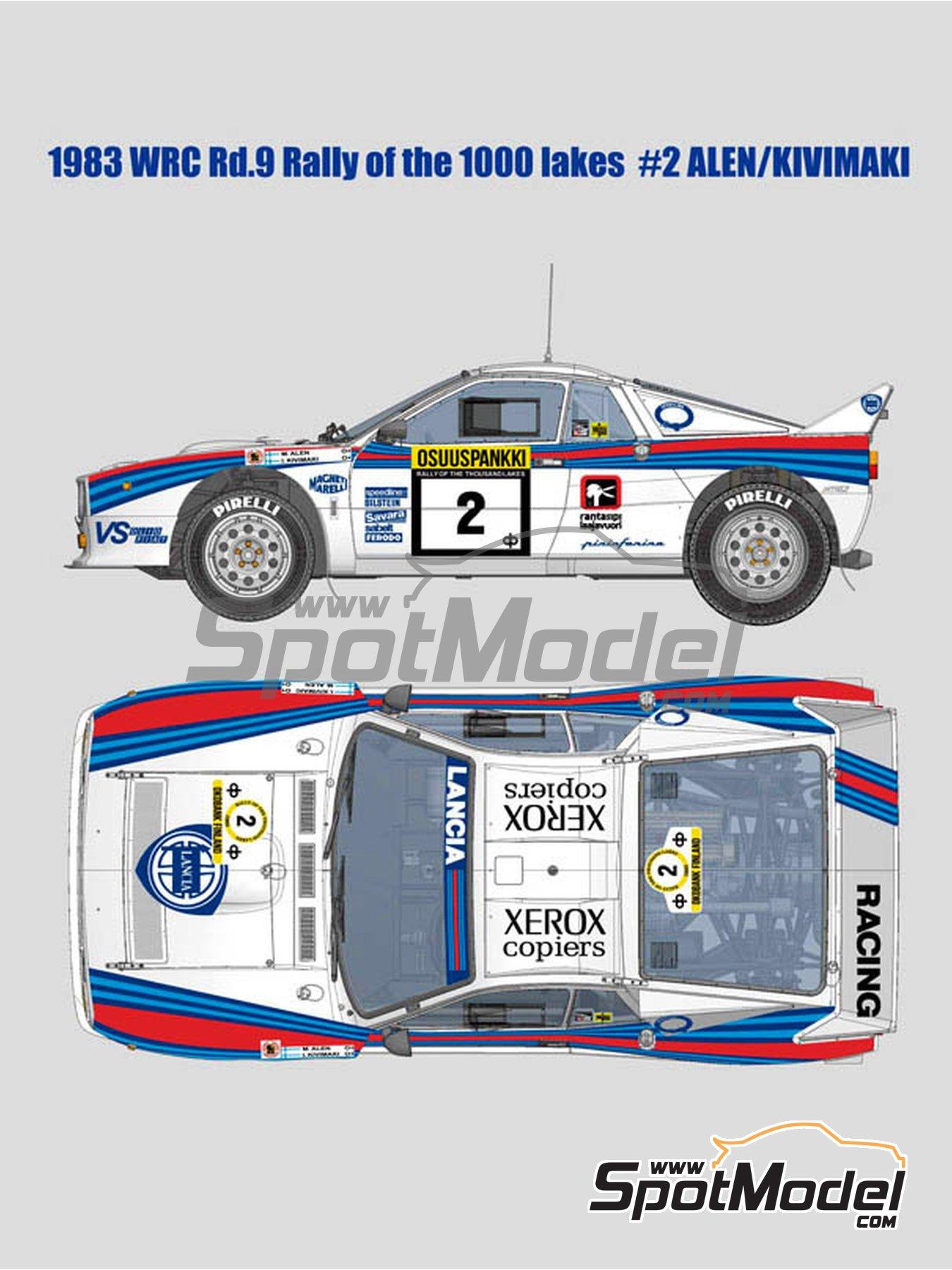 Lancia Rally 037 Martini Racing - Rally de los 1000 Lagos Finlandia 1983 | Maqueta de coche en escala1/12 fabricado por Model Factory Hiro (ref.MFH-K517, tambien K-517) image