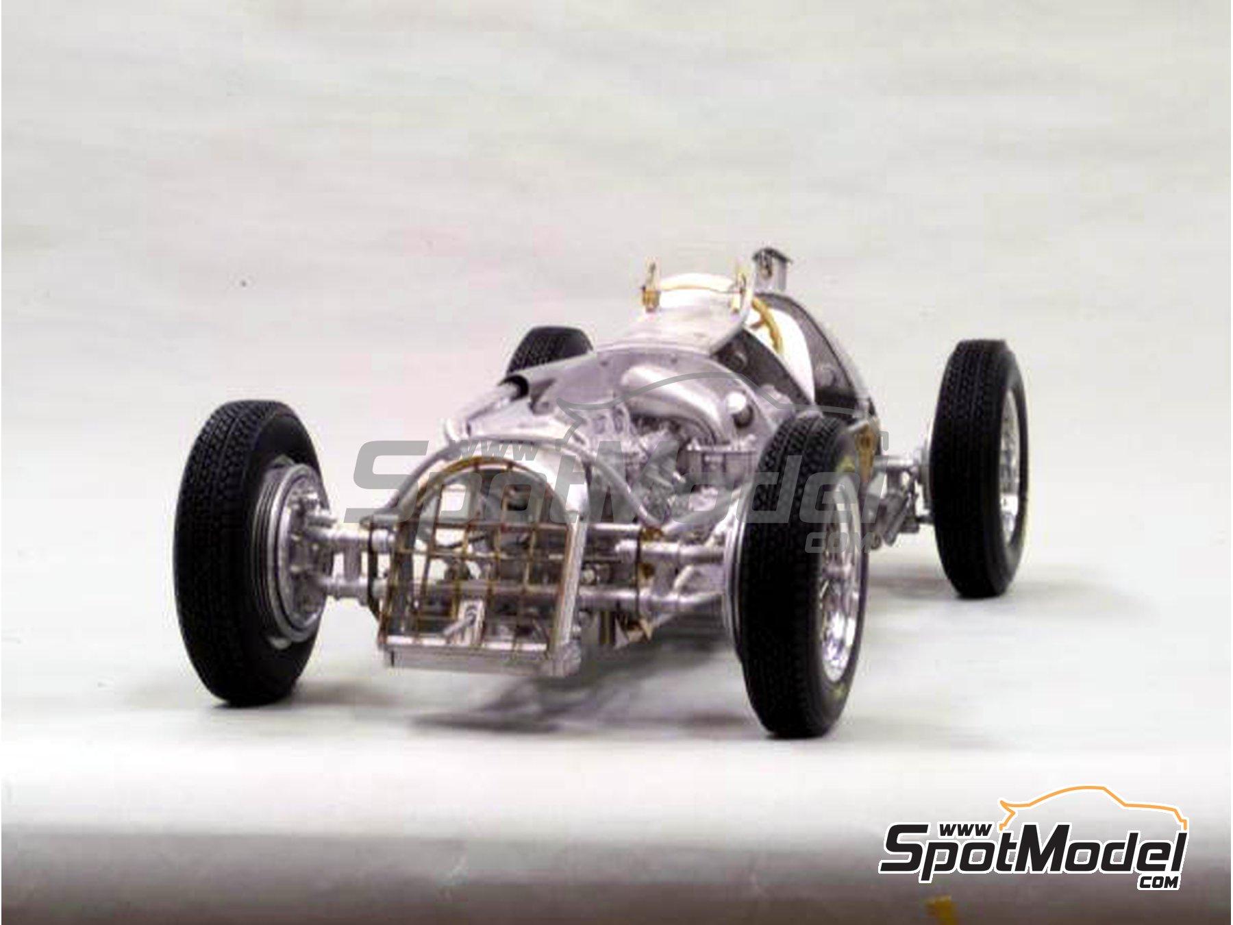 Image 7: Alfa Romeo 158 Alfetta - French Formula 1 Grand Prix, British Formula 1 Grand Prix, Italian Formula 1 Grand Prix 1950 | Model car kit in 1/12 scale manufactured by Model Factory Hiro (ref.MFH-K519, also K-519)