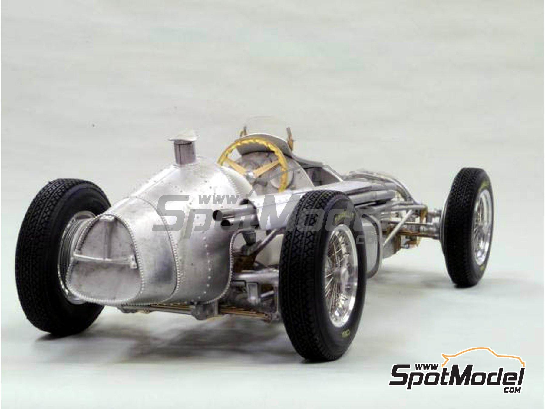 Image 8: Alfa Romeo 158 Alfetta - French Formula 1 Grand Prix, British Formula 1 Grand Prix, Italian Formula 1 Grand Prix 1950 | Model car kit in 1/12 scale manufactured by Model Factory Hiro (ref.MFH-K519, also K-519)