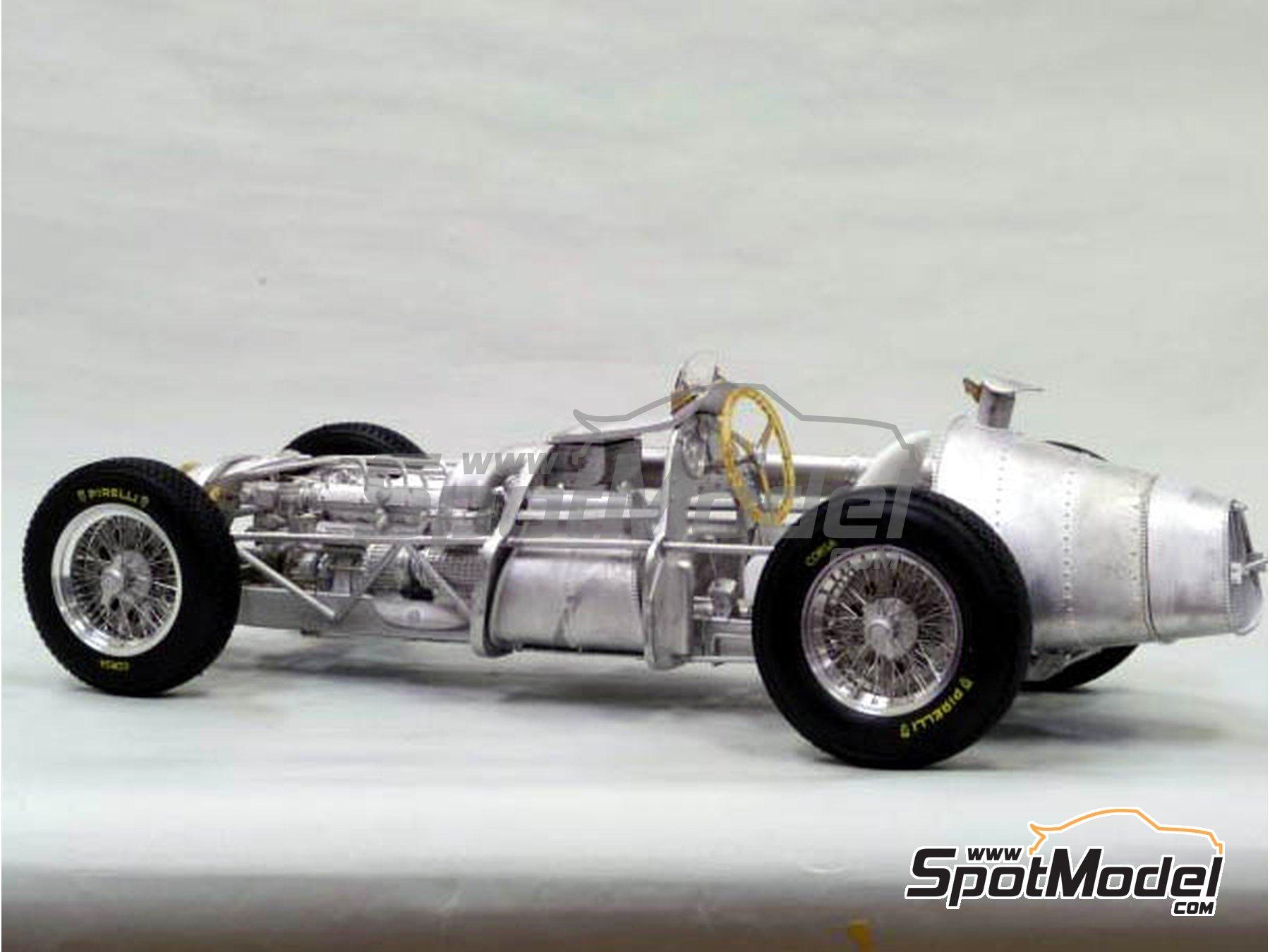 Image 6: Alfa Romeo 159 Alfetta - Spanish Formula 1 Grand Prix, Italian Formula 1 Grand Prix 1951 | Model car kit in 1/12 scale manufactured by Model Factory Hiro (ref.MFH-K520, also K-520)