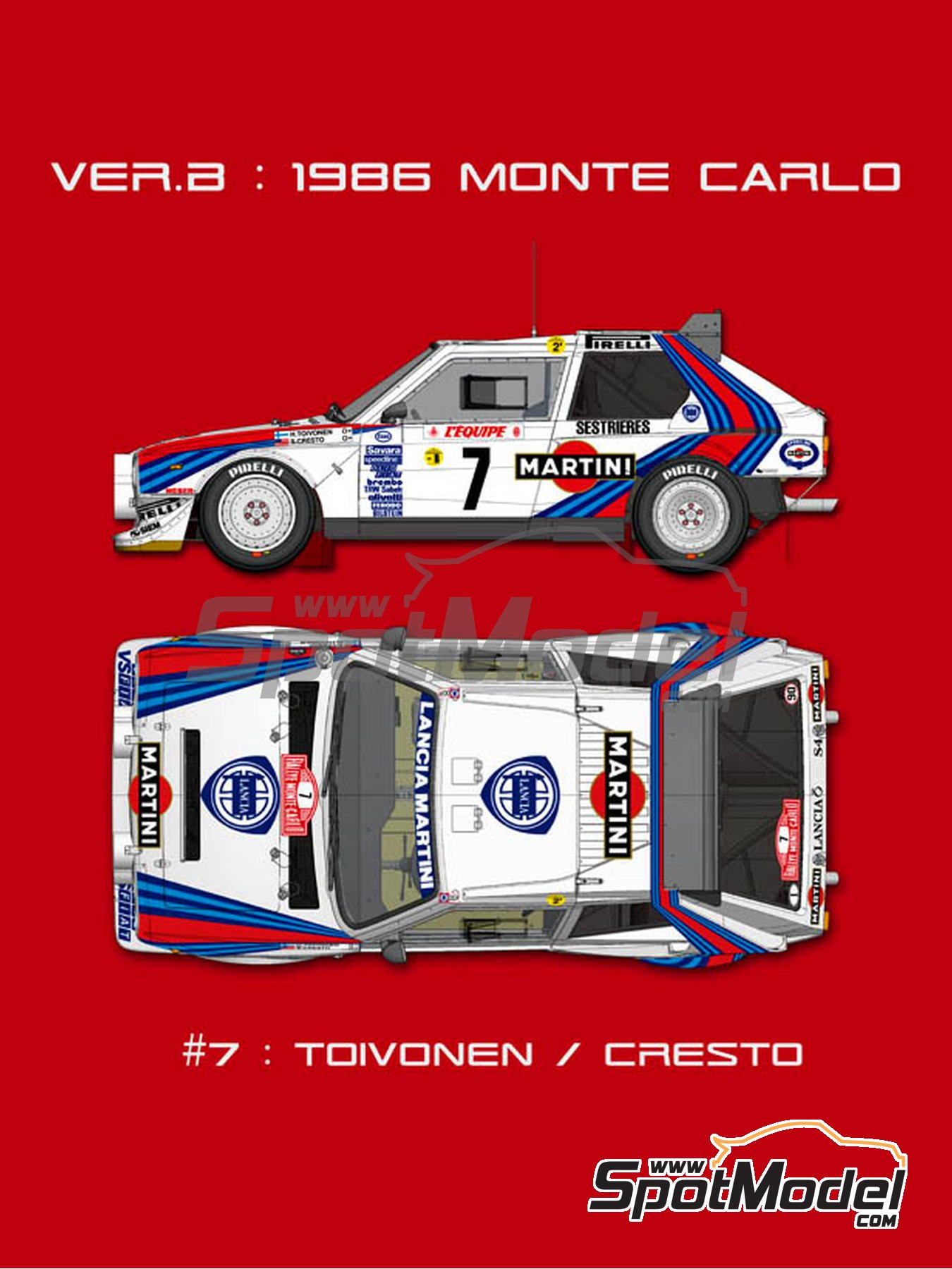 Lancia Delta S4 Martini -  1986   Model car kit in 1/12 scale manufactured by Model Factory Hiro (ref.MFH-K522, also K-522) image
