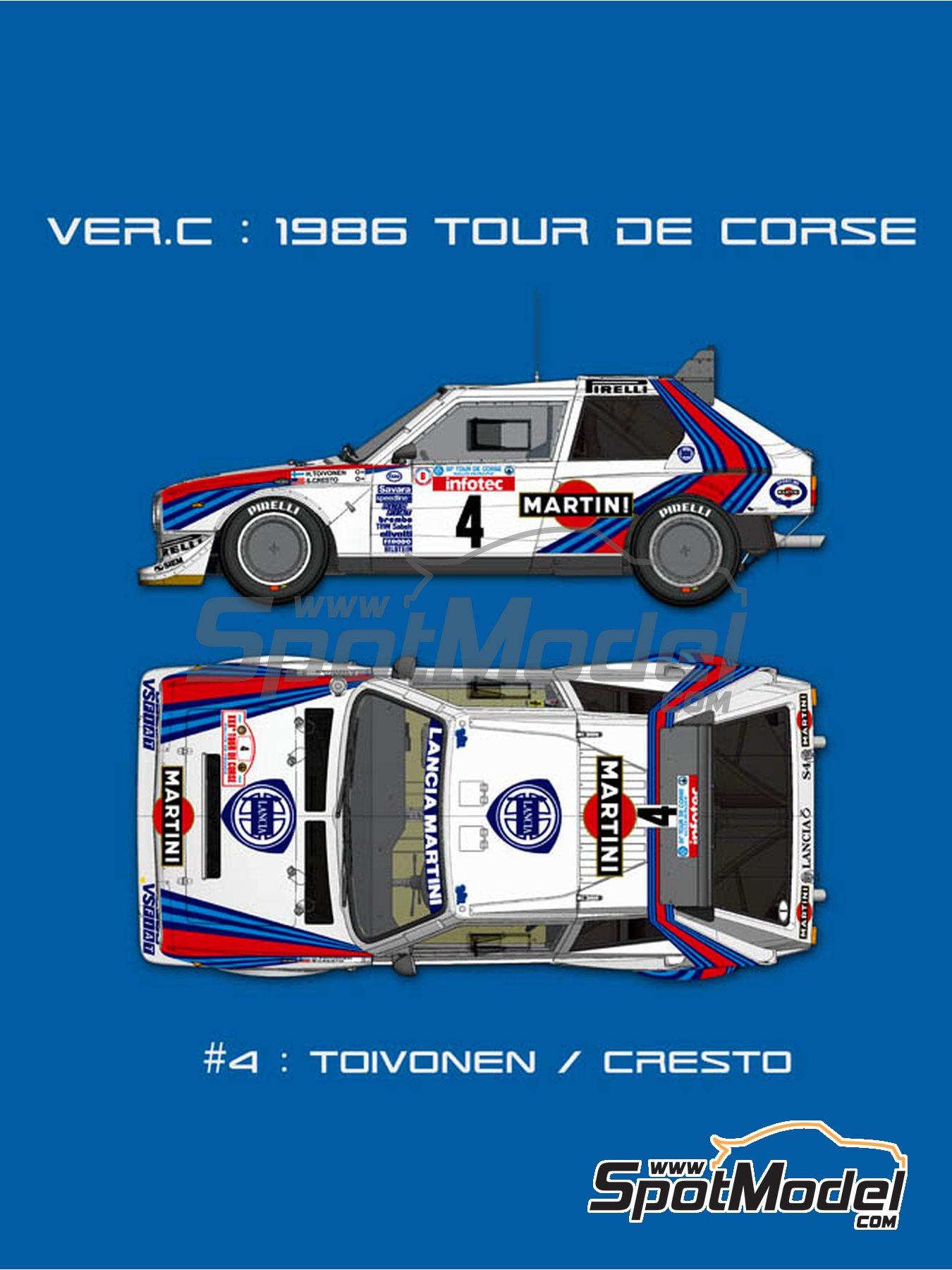 Lancia Delta S4 Martini -  1986 | Model car kit in 1/12 scale manufactured by Model Factory Hiro (ref.MFH-K523, also K-523) image