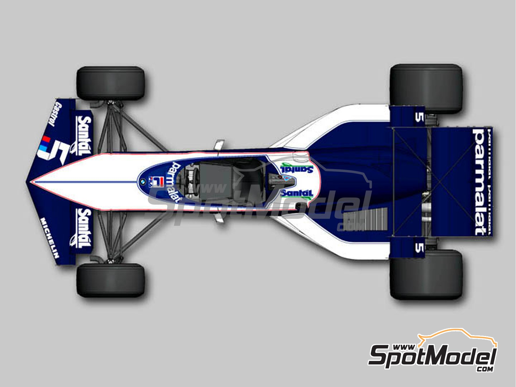 Image 2: Brabham BMW BT52B Parmalat - European Formula 1 Grand Prix, South African Formula 1 Grand Prix 1983 | Model car kit in 1/12 scale manufactured by Model Factory Hiro (ref.MFH-K524, also K-524)