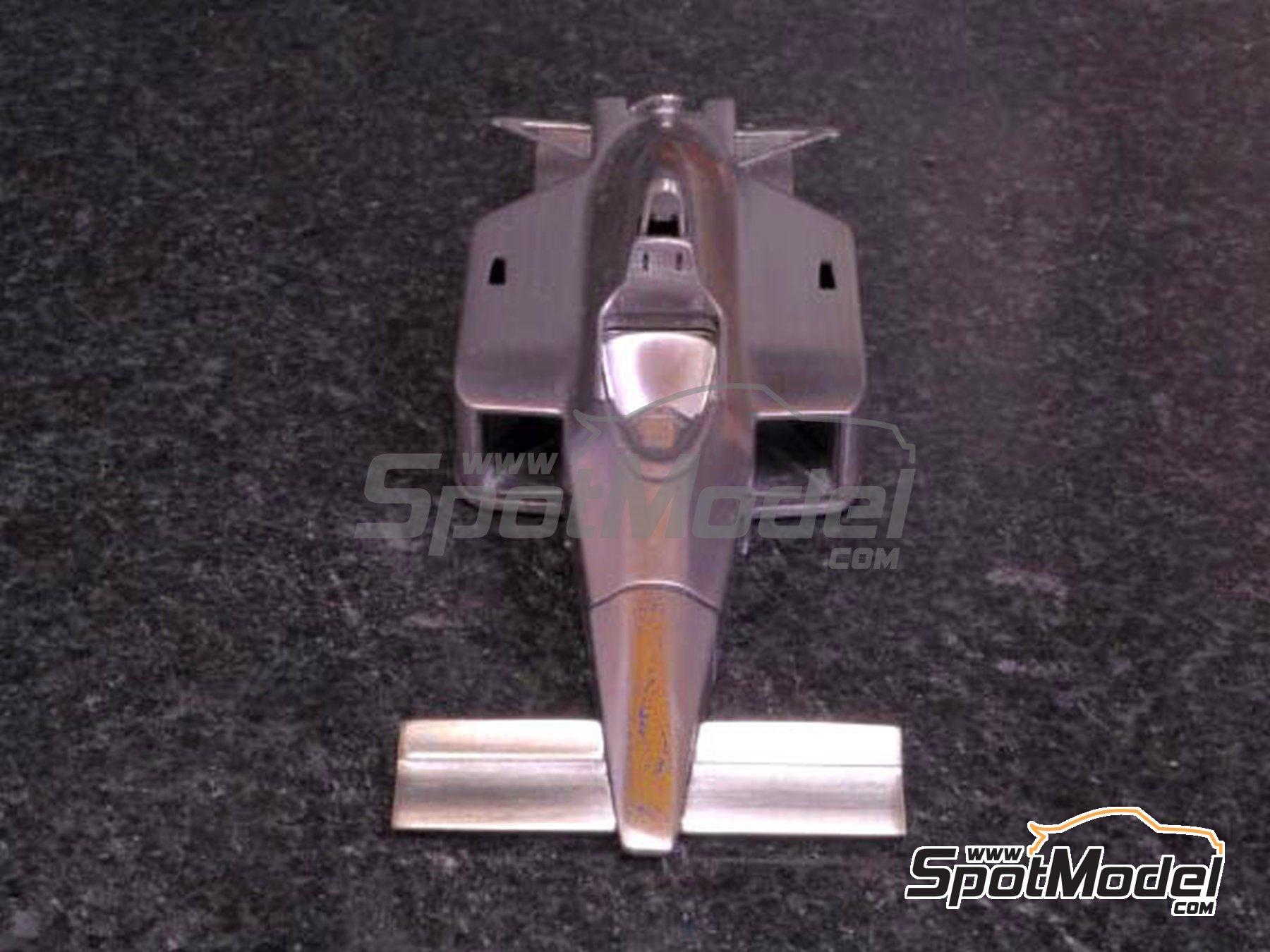 Image 3: McLaren Honda MP4/4 Marlboro - Gran Premio de Fórmula 1 de Canada, Gran Premio de Fórmula 1 de Francia, Gran Premio de Formula 1 de Mónaco, Gran Premio de Fórmula 1 de San Marino, Gran Premio de Detroit 1988 | Maqueta de coche en escala1/43 fabricado por Model Factory Hiro (ref.MFH-K526, tambien K-526)