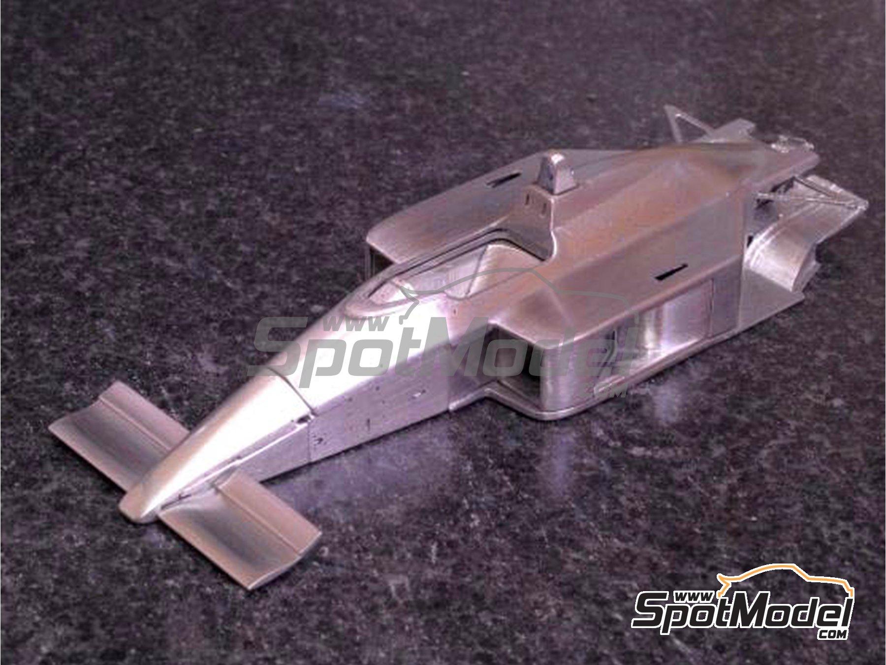Image 4: McLaren Honda MP4/4 - German Grand Prix, Belgian Grand Prix, Spanish Grand Prix, Hungary Grand Prix, Italian Grand Prix, Japan Grand Prix, Portuguese Grand Prix 1988 | Model car kit in 1/43 scale manufactured by Model Factory Hiro (ref.MFH-K528)