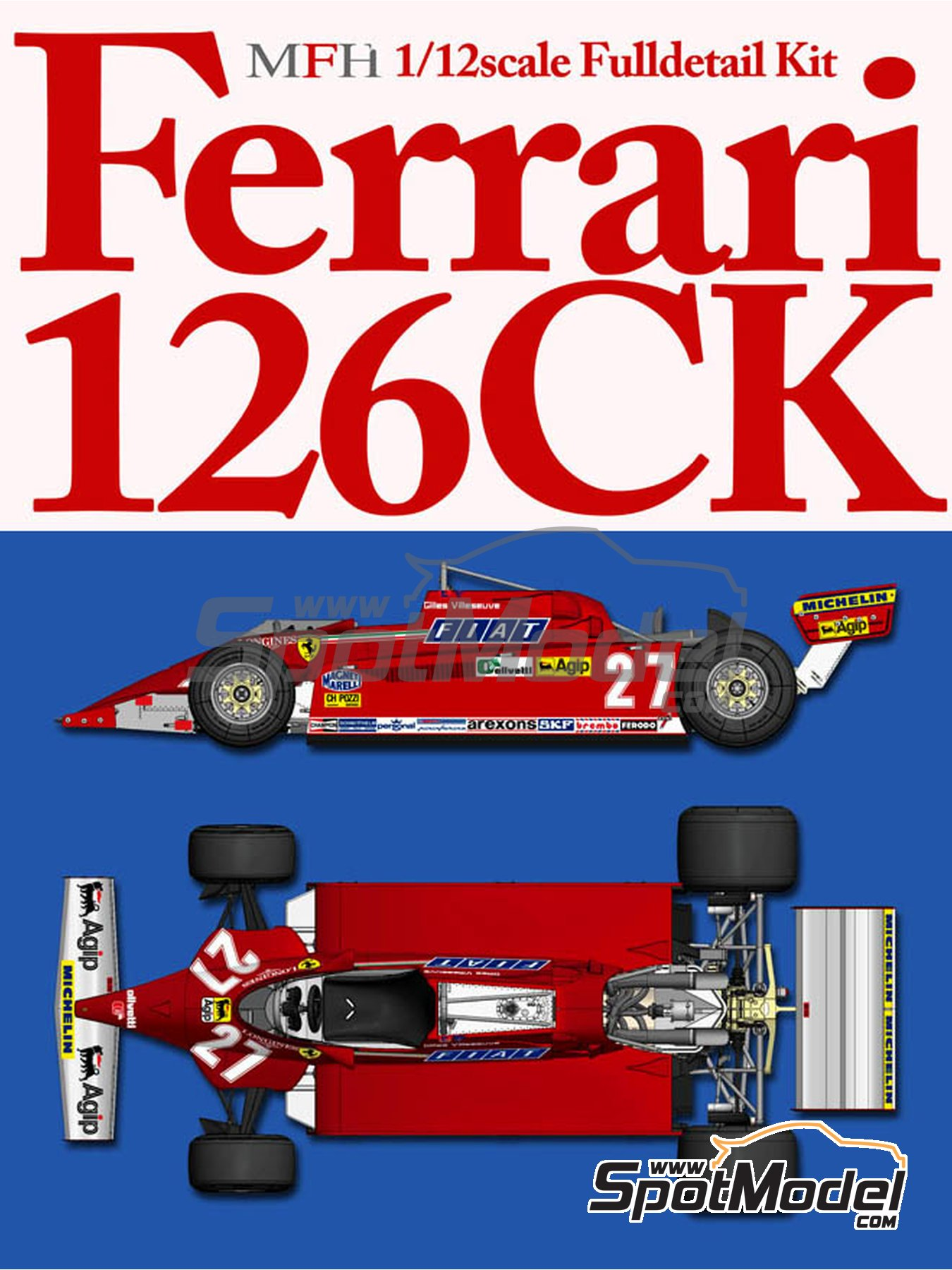 Ferrari 126CK - Monaco Formula 1 Grand Prix 1981 | Model car kit in 1/12 scale manufactured by Model Factory Hiro (ref.MFH-K529, also K-529) image