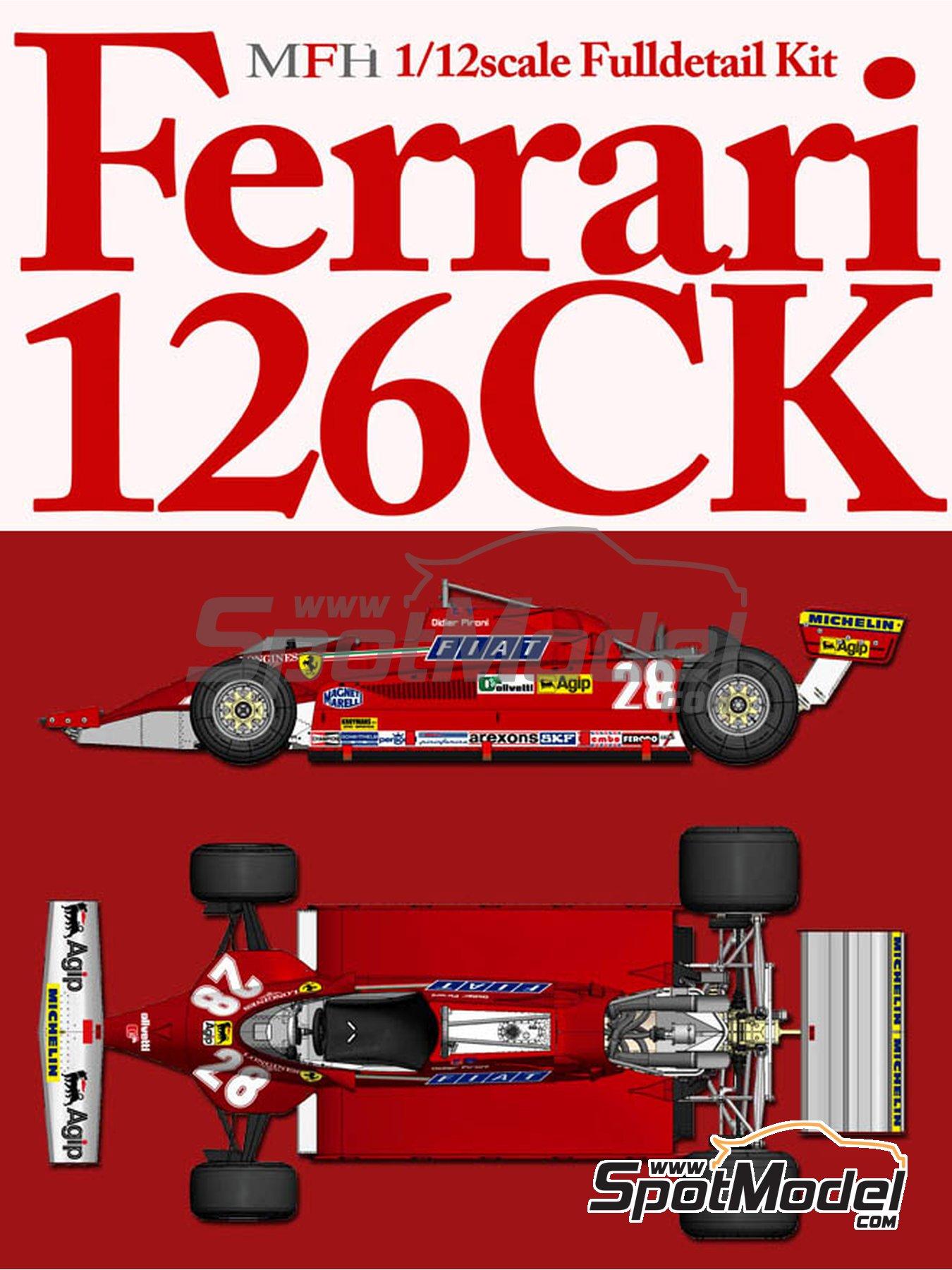 Ferrari 126CK - Gran Premio de Formula 1 de Holanda 1981 | Maqueta de coche en escala1/12 fabricado por Model Factory Hiro (ref.MFH-K530, tambien K-530) image