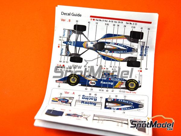Image 14: Williams Renault FW16 Rothmand - Gran Premio de Brasil 1994 | Maqueta de coche en escala1/43 fabricado por Model Factory Hiro (ref.MFH-K535)